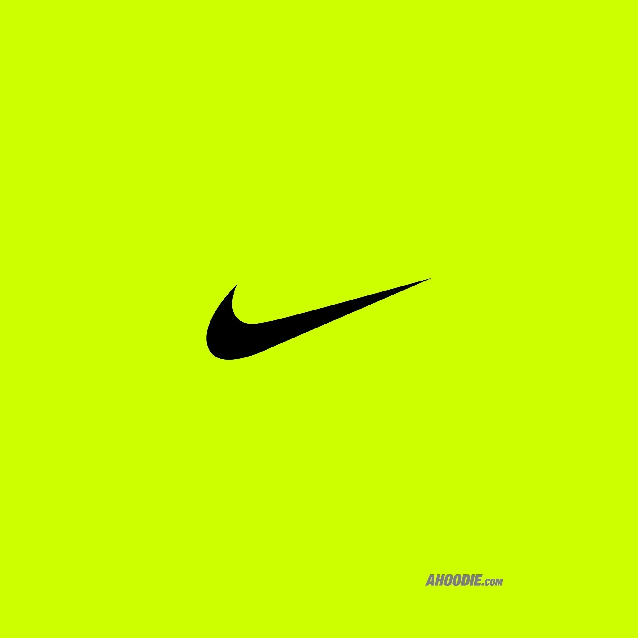 lime green nike logo