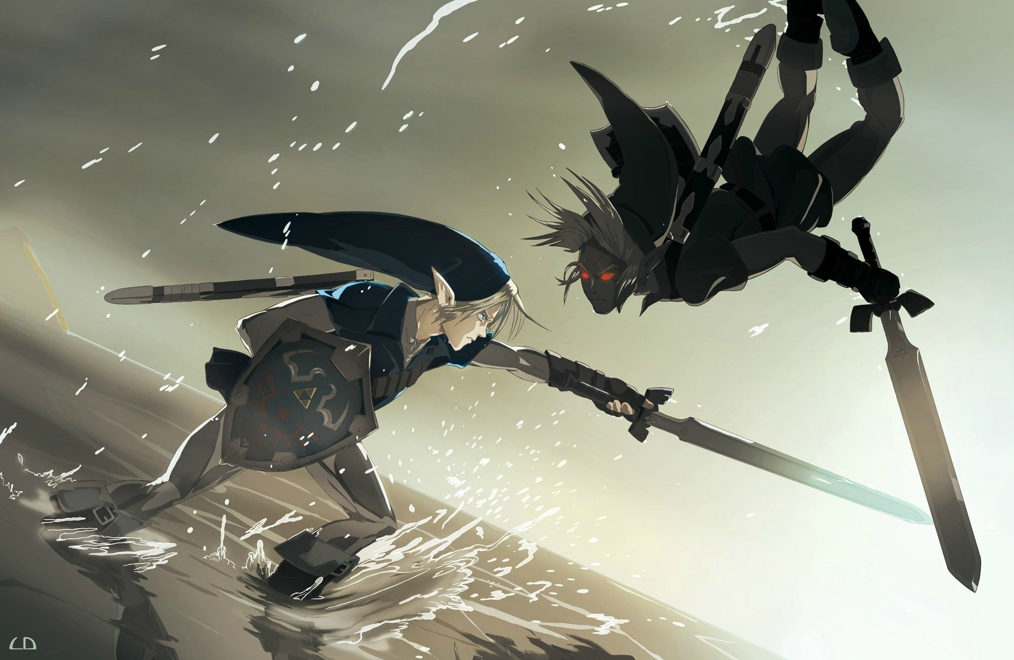 link vs dark link | video games | pinterest | wallpaper animé, jeux