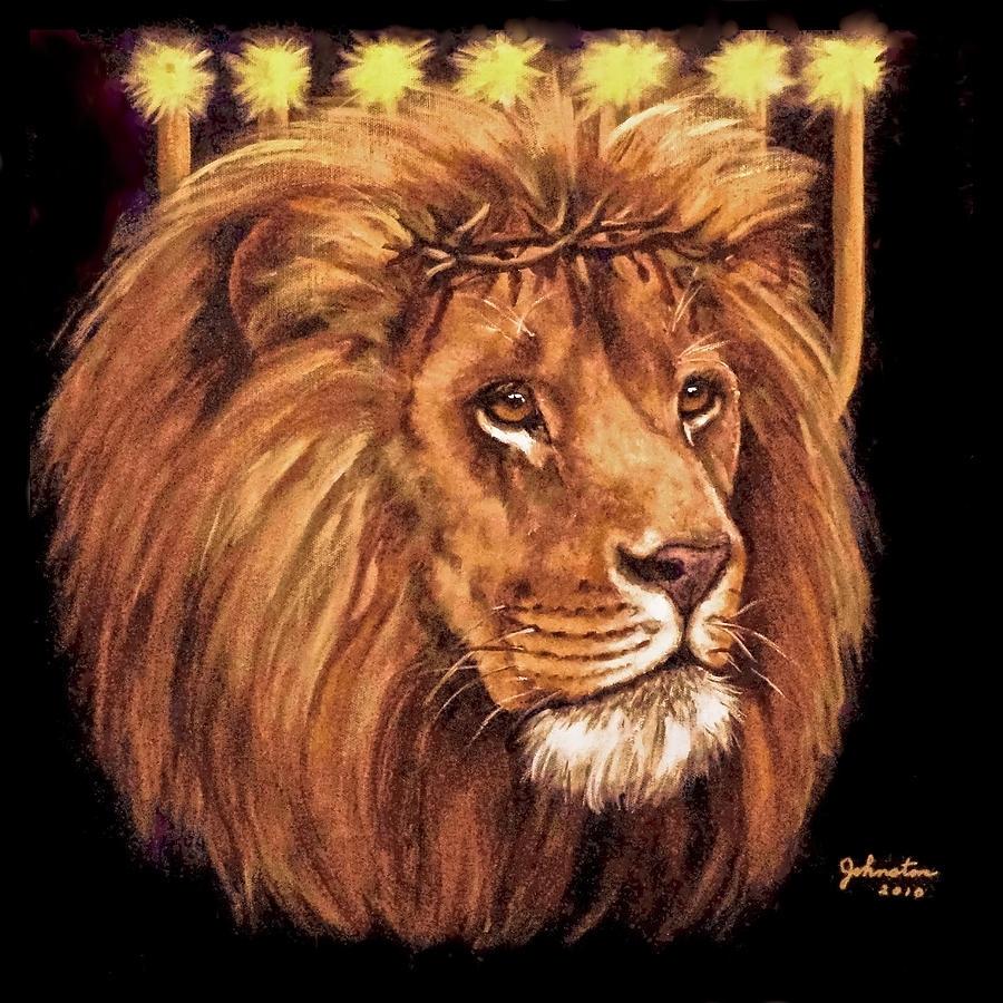 lion of judah - menorah paintingbob and nadine johnston