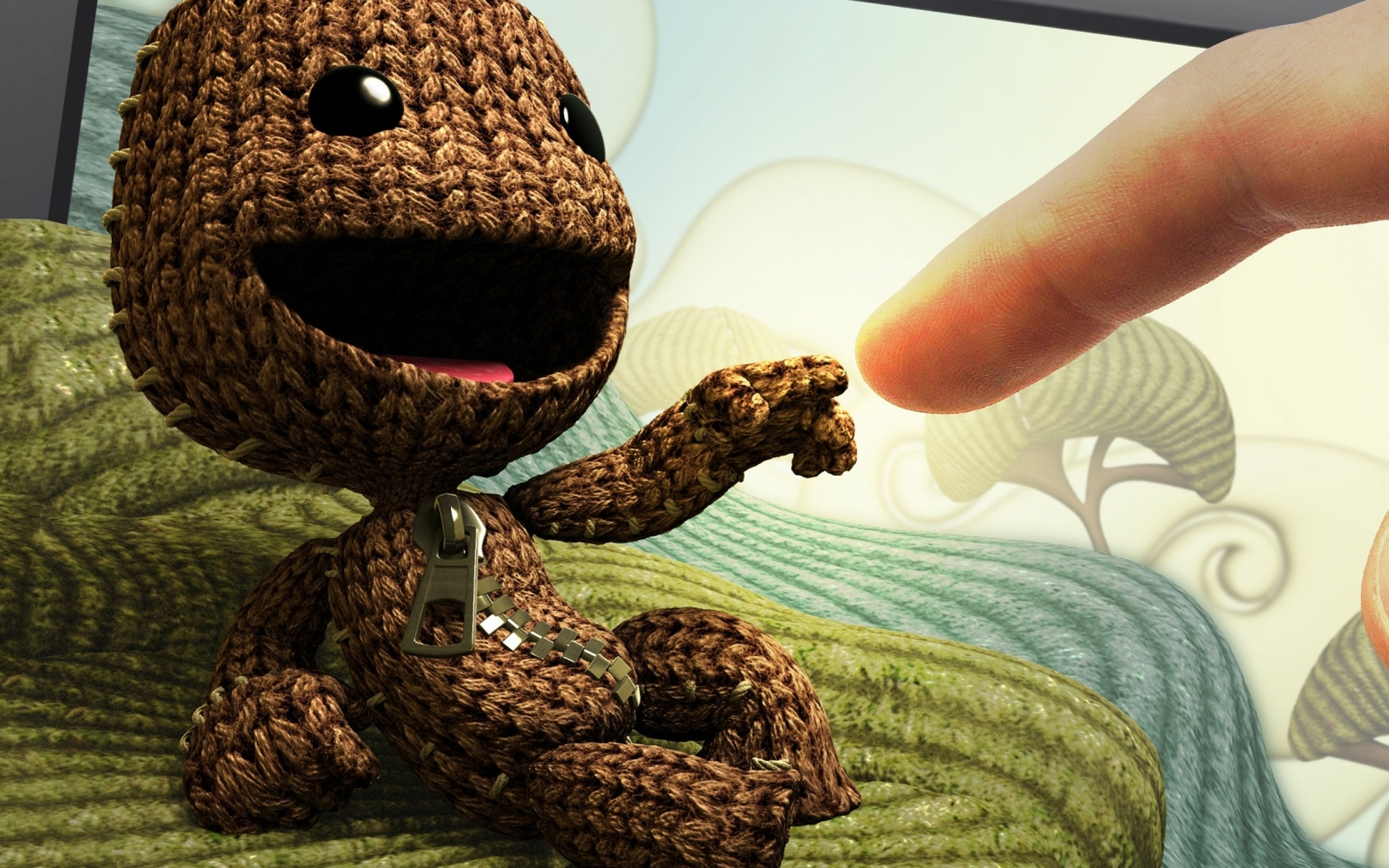 little big planet images sackboy and human hd wallpaper and