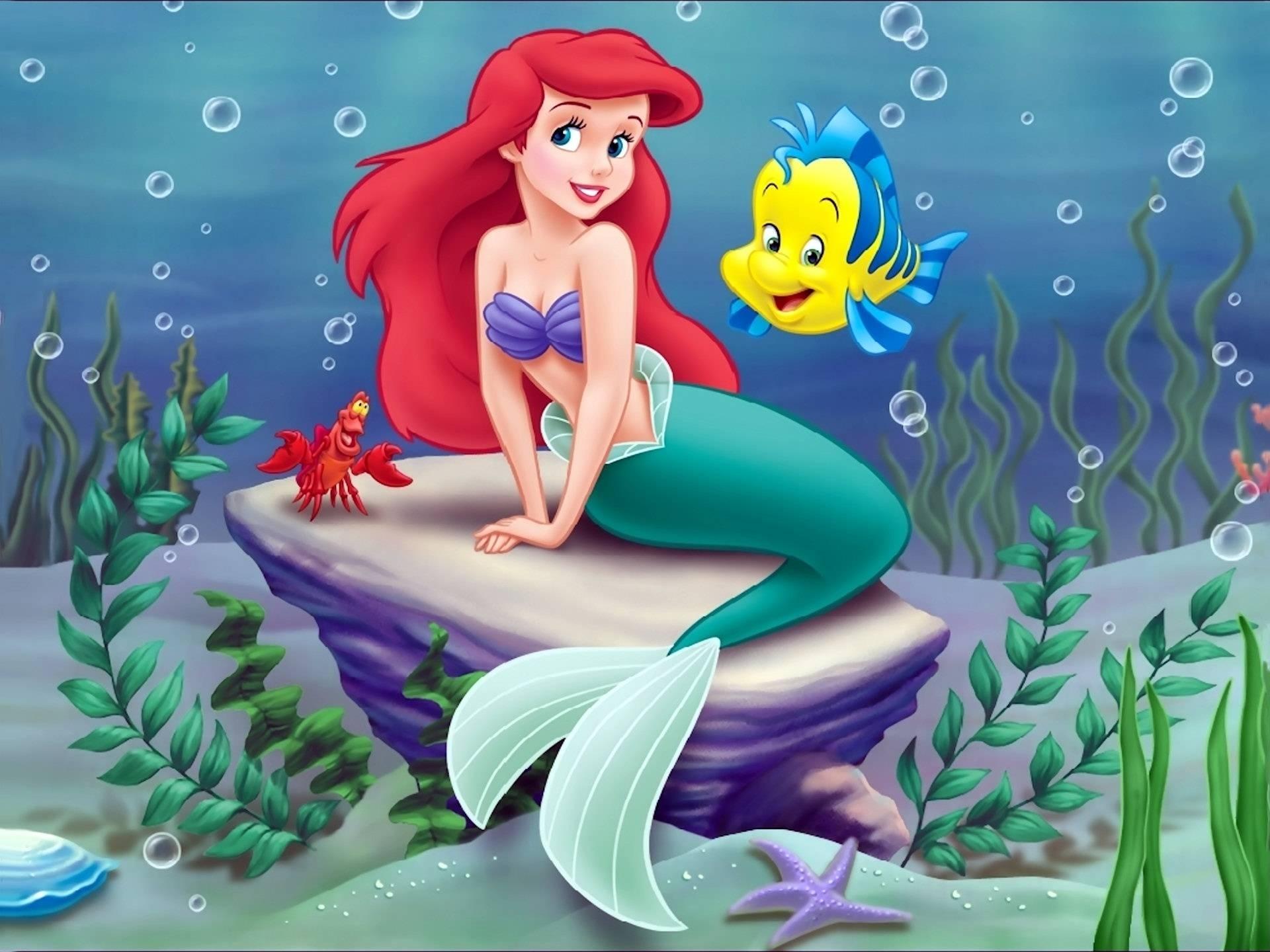 little mermaid disney wallpaper - mermaid wallpaper
