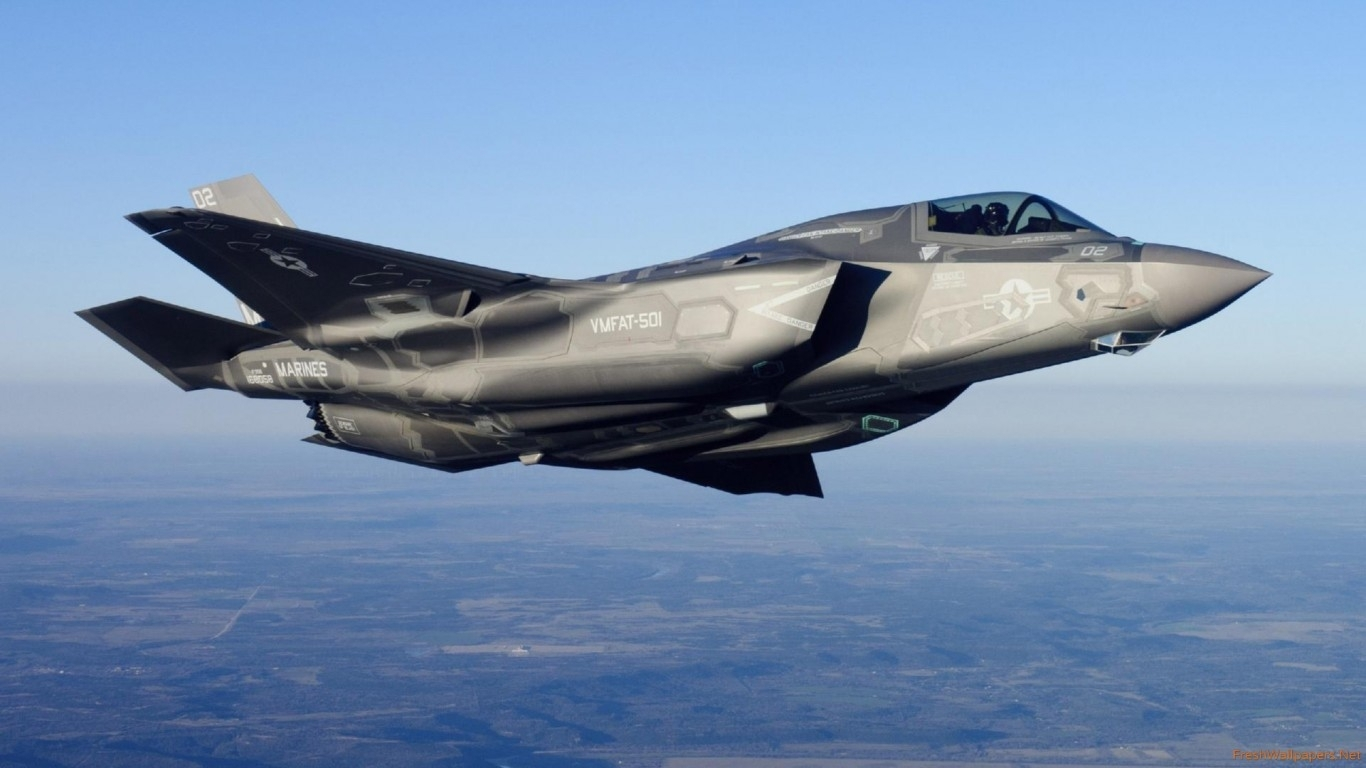 lockheed martin f-35 lightning ii view from a side wallpapers