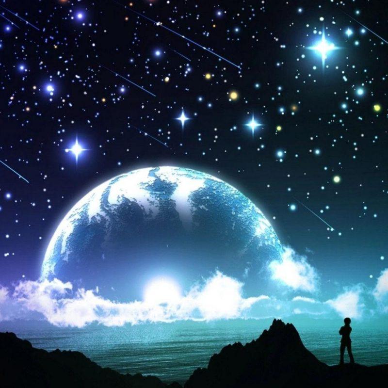 10 New Stars And Moon Wallpaper FULL HD 1920×1080 For PC Desktop 2021 free download lune et etoiles fond decran hd 800x800