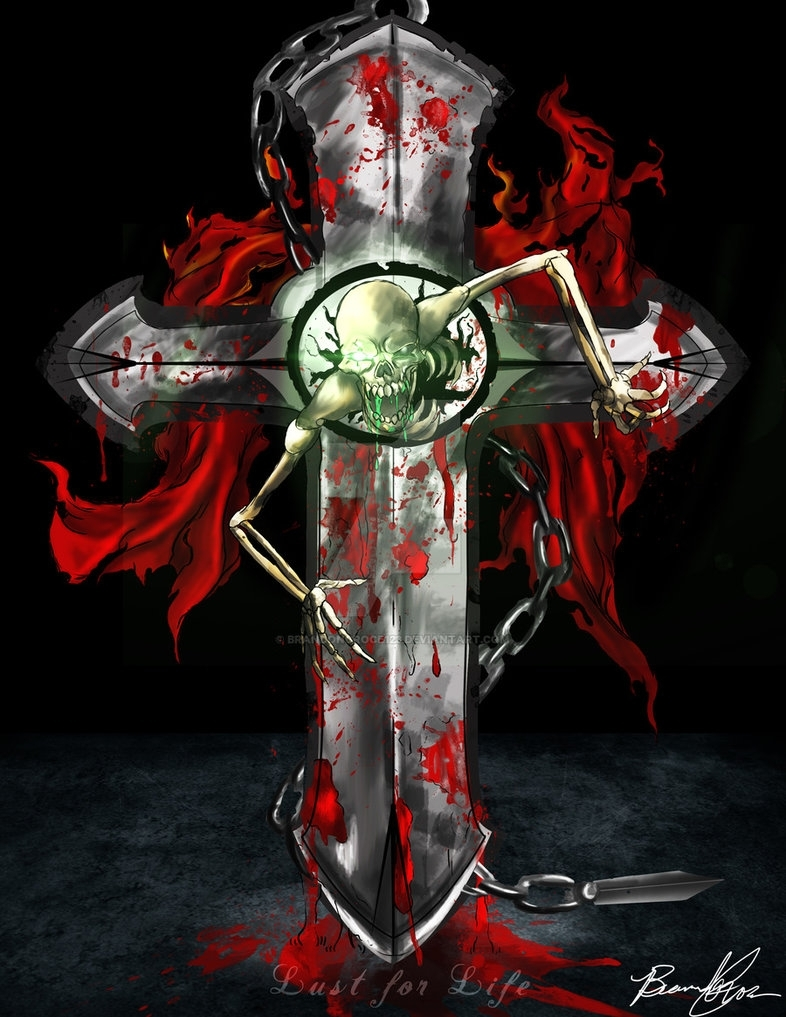 lust for life: skull and cross (green)brandongroce123 on deviantart