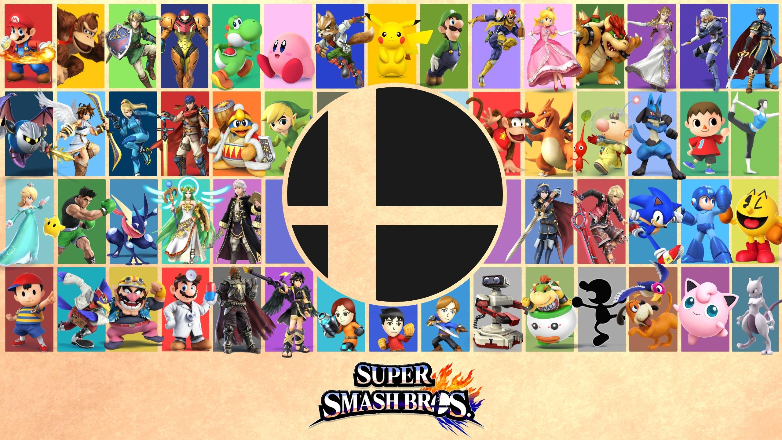 made a super smash bros wallpaper/poster today, thought you guys