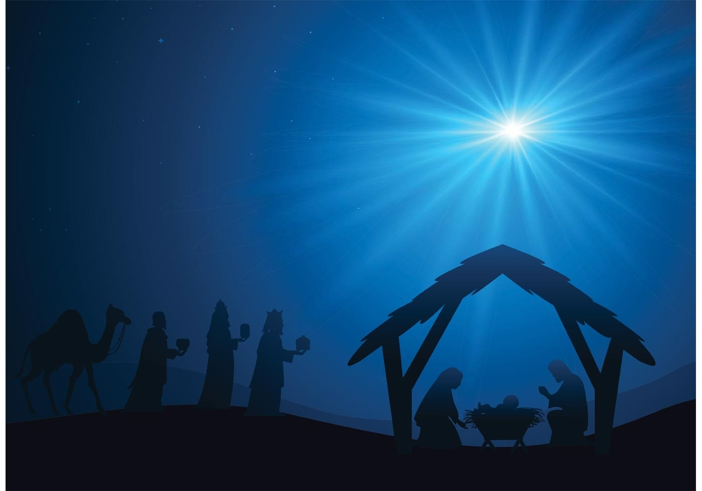 manger scene vector background - download free vector art, stock