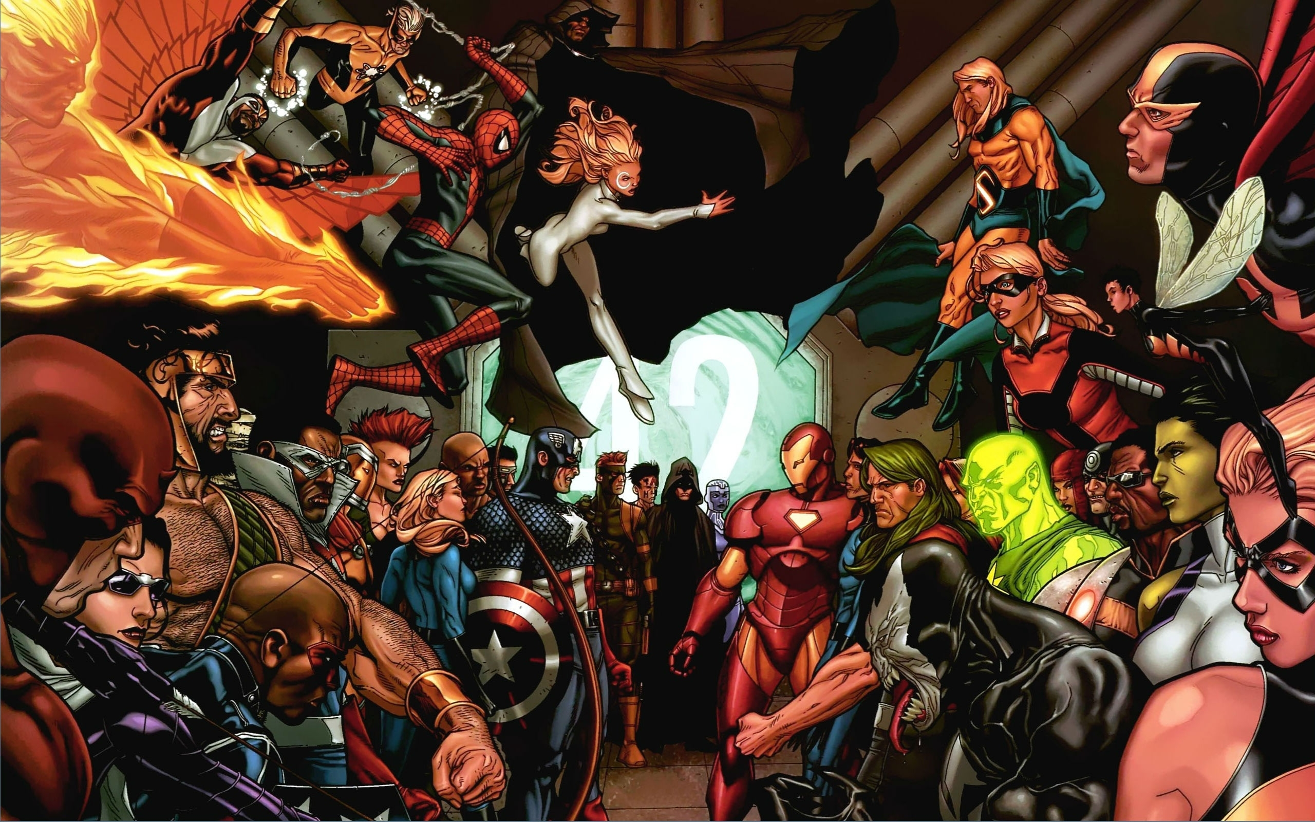 marvel civil war full hd wallpaper and background image | 2560x1600