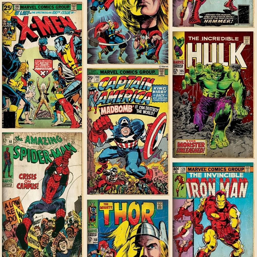 marvel superheroes wallpaper comic cover at wilko
