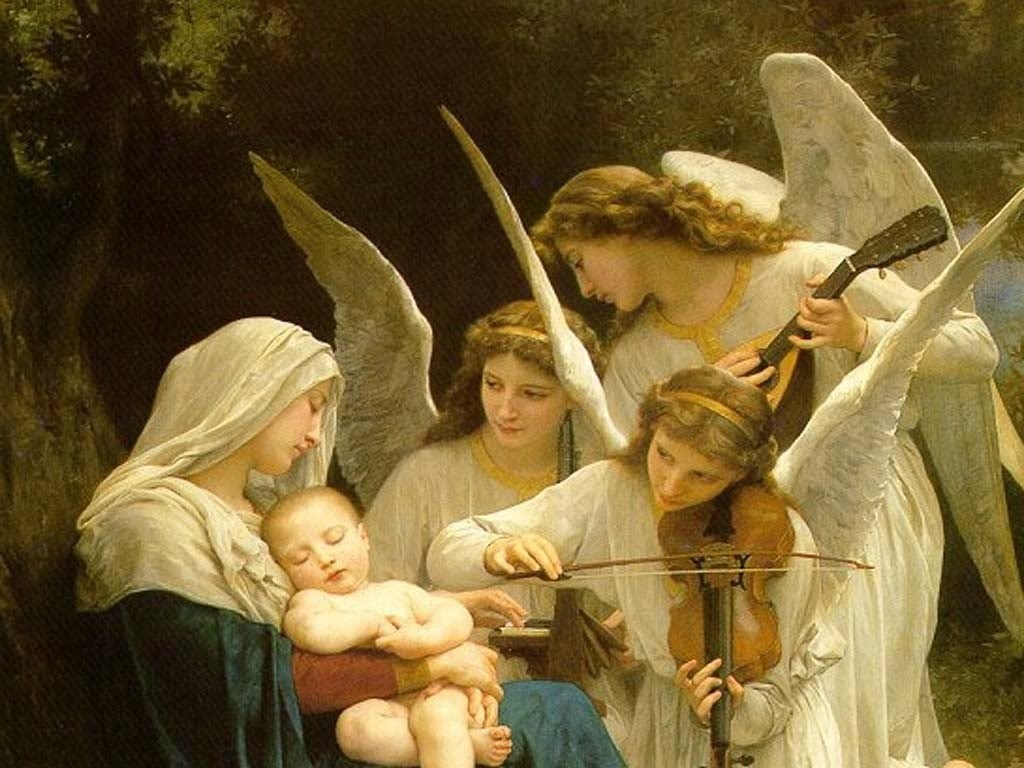 mary baby jesus angels | catholic lane
