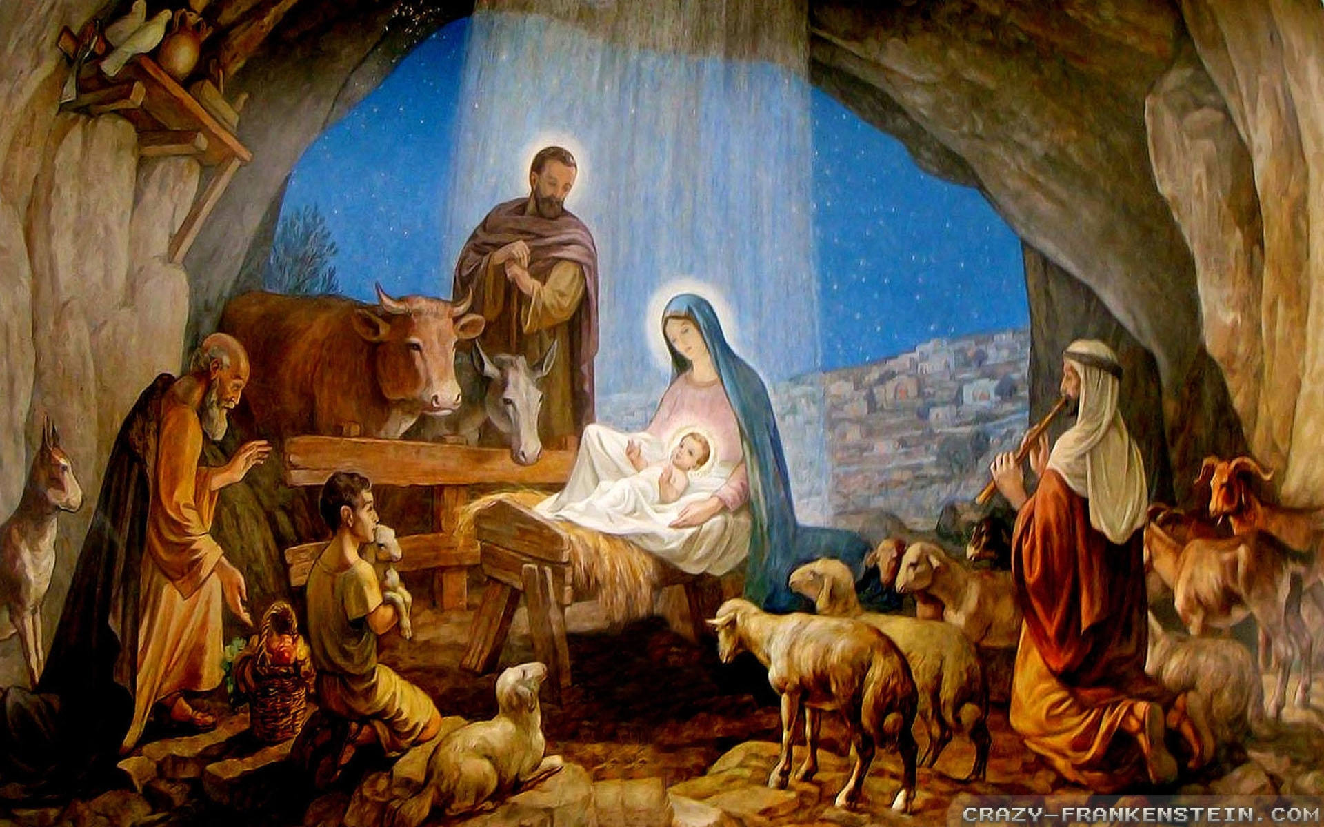 merry christmas nativity scene ultra hd wallpapers, new 4k