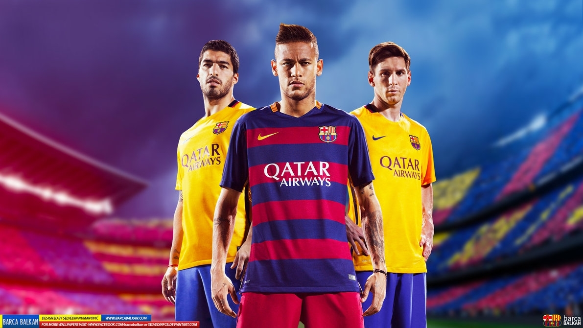 messi suarez neymar hd wallpaper 2015selvedinfcb on deviantart