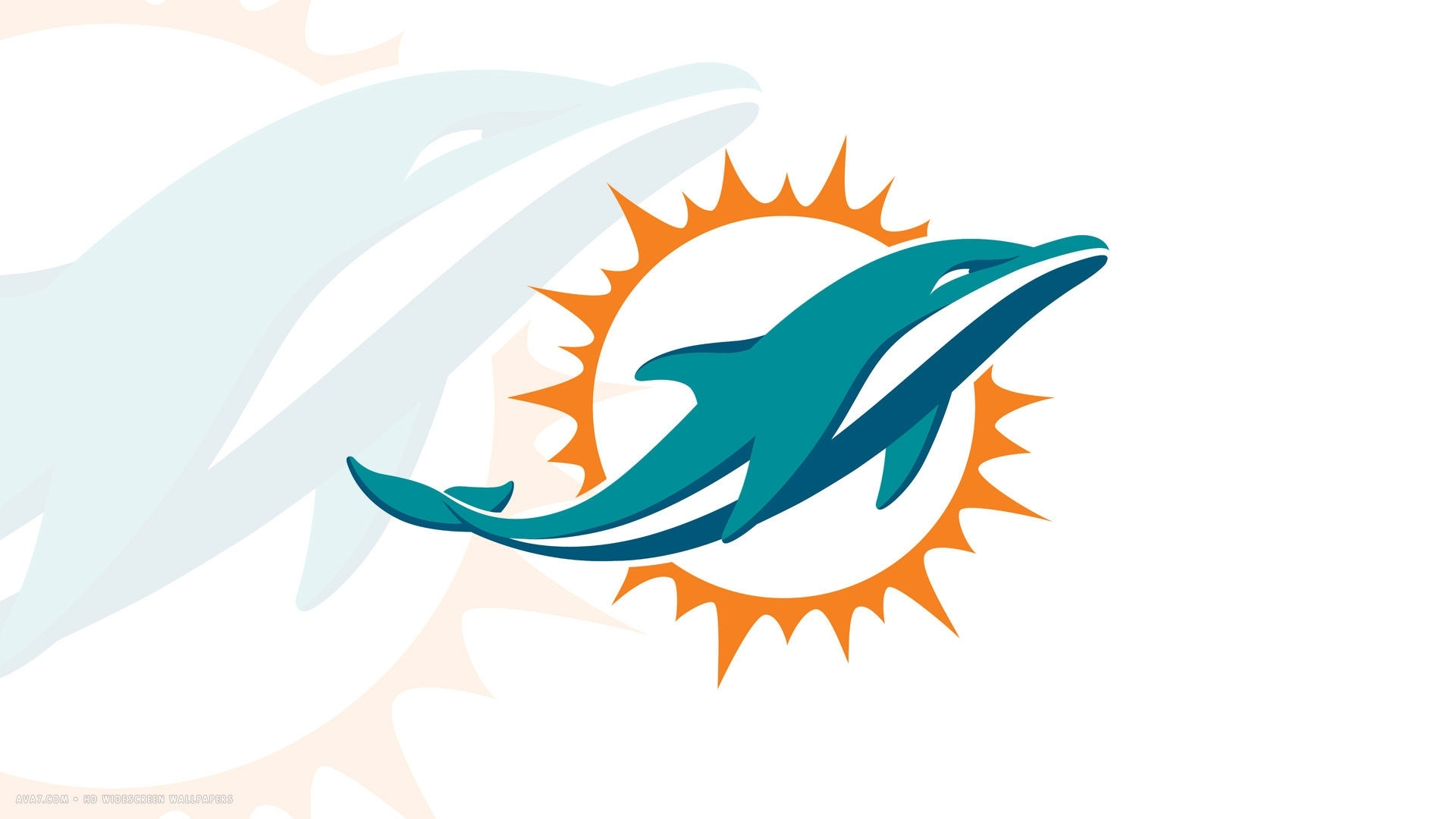 miami dolphins new logo 1920x1080 hd widescreen wallpaper / american