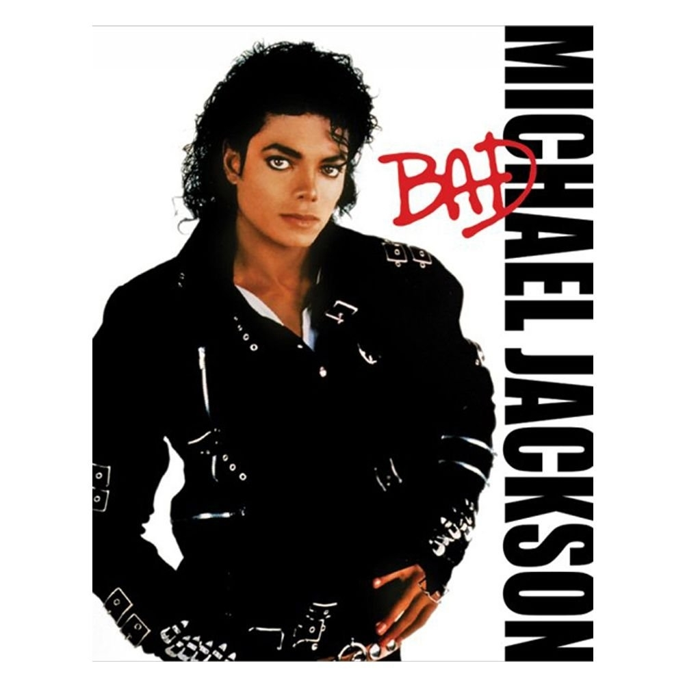 michael jackson bad album mini poster