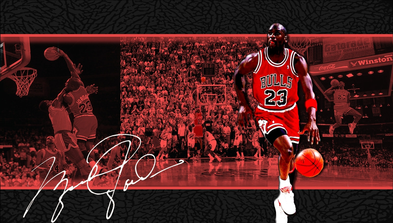 michael jordan cool wallpaper with signature | wallpapers