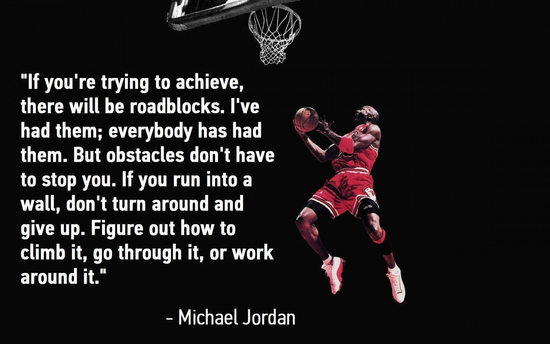 michael jordan quote wallpapers - wallpaper cave