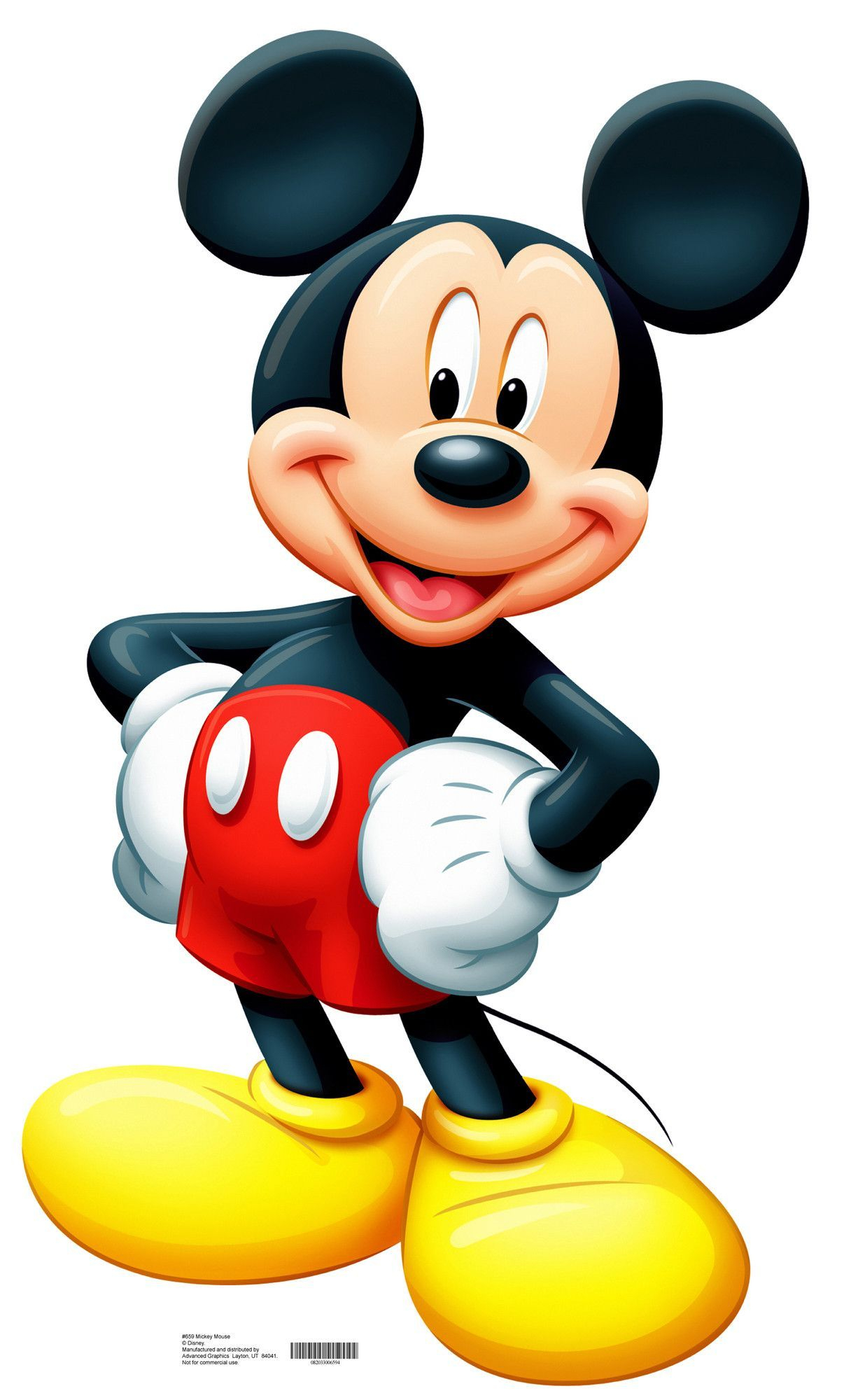 mickey mouse life-size cardboard stand-up | disney world | mickey