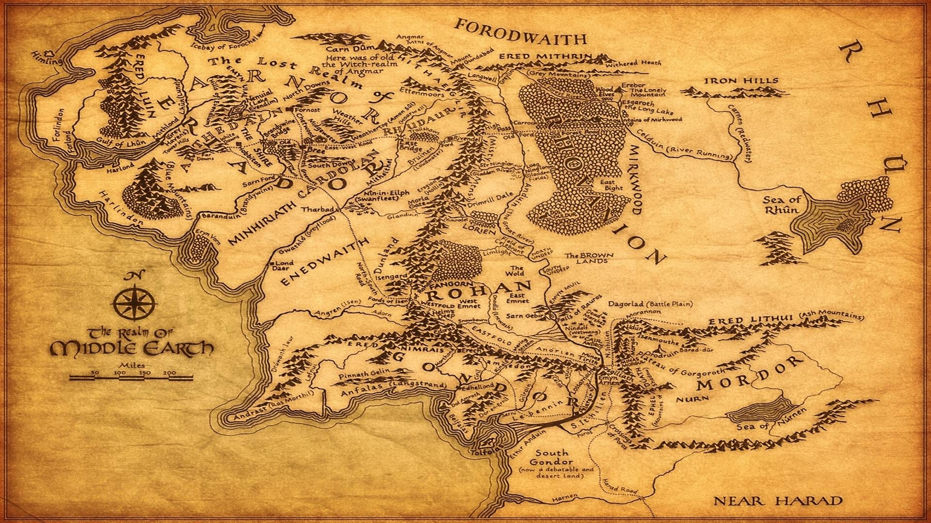 middle earth full map image - nickbros_256 - mod db