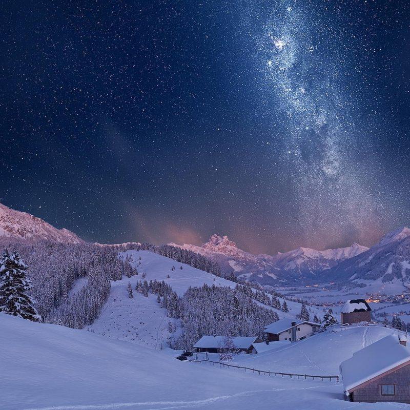 10 Top Winter Night Wallpaper Hd FULL HD 1080p For PC Desktop 2020 free download milky way sky over winter village full hd fond decran and arriere 1 800x800