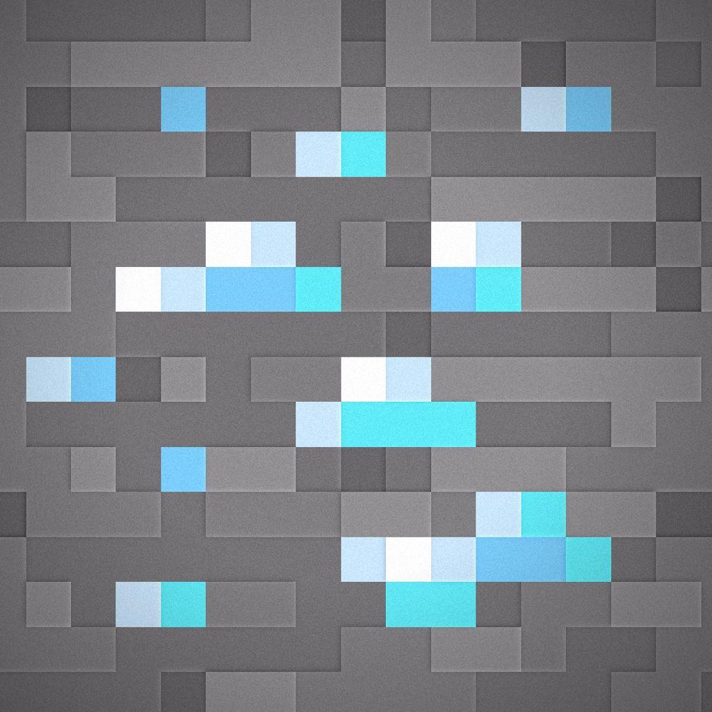 minecraft iphone wallpaper diamonds ipad | minecraft | pinterest