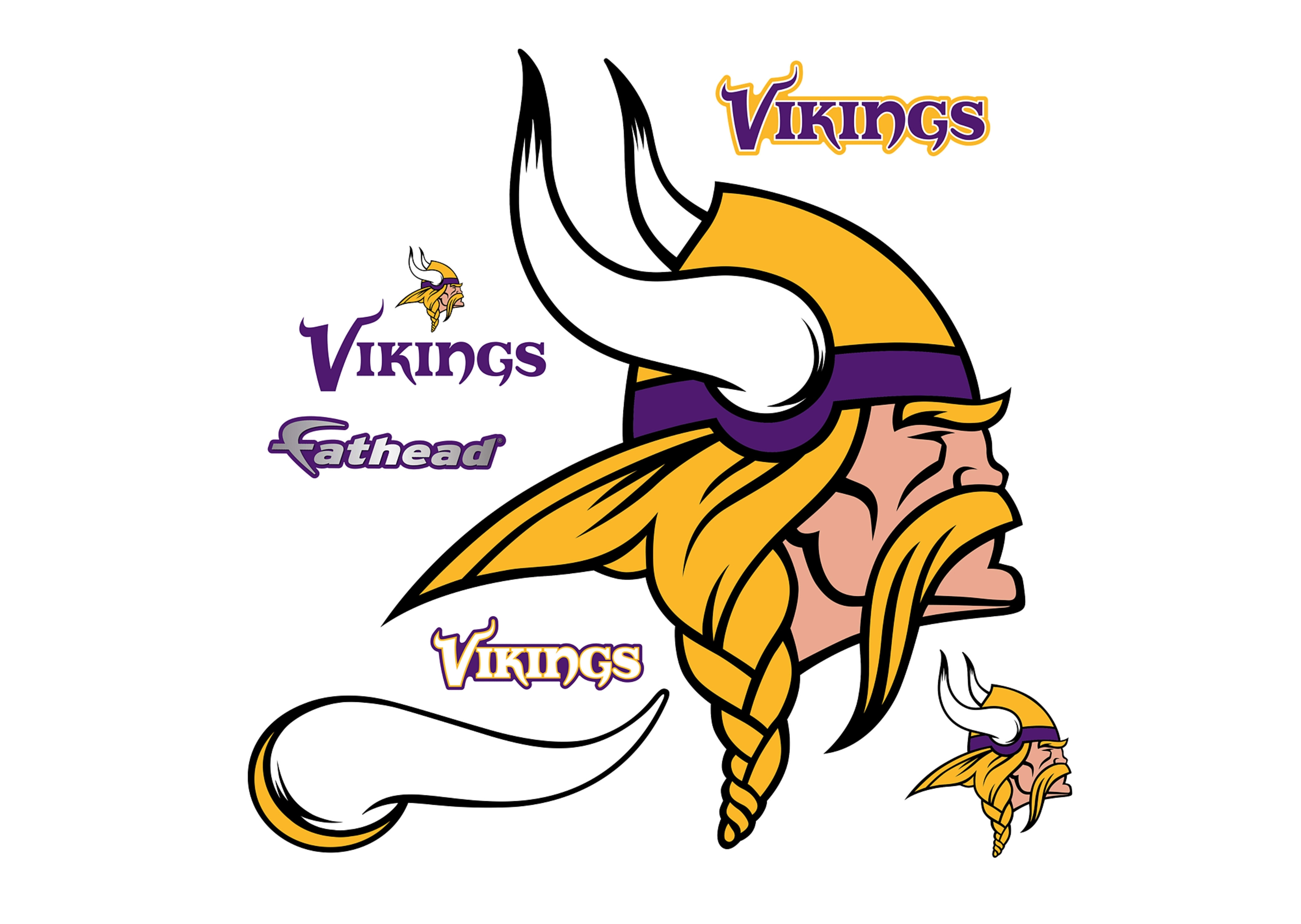 minnesota vikings logo wall decal | shop fathead® for minnesota