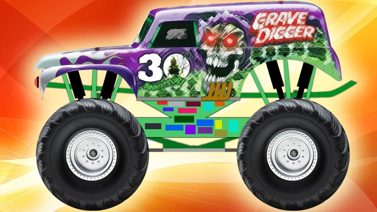 monster truck grave digger - youtube