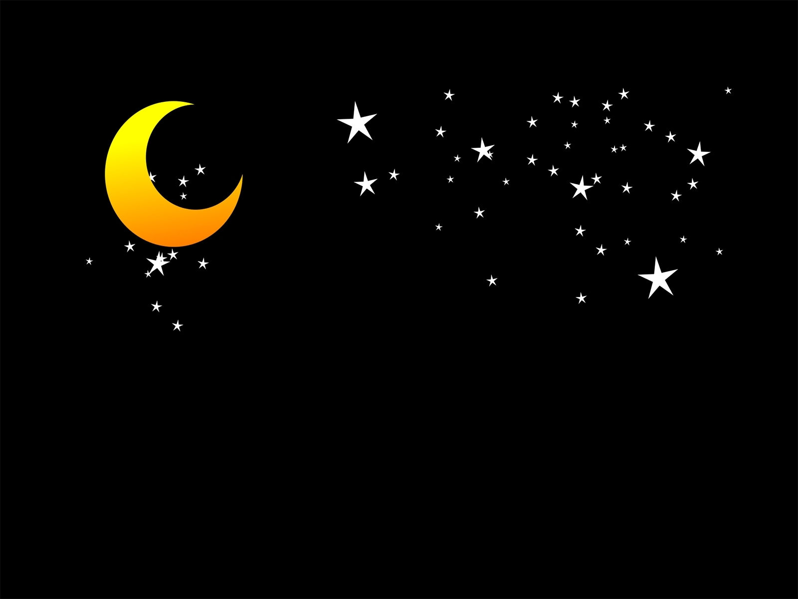 moon and stars backgrounds presnetation - ppt backgrounds templates