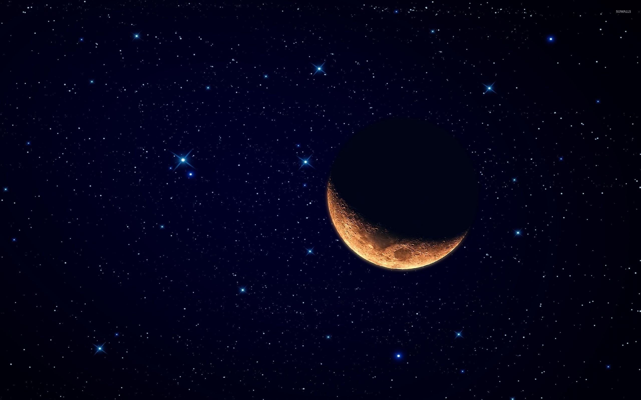 moon and stars wallpaper - space wallpapers - #22673