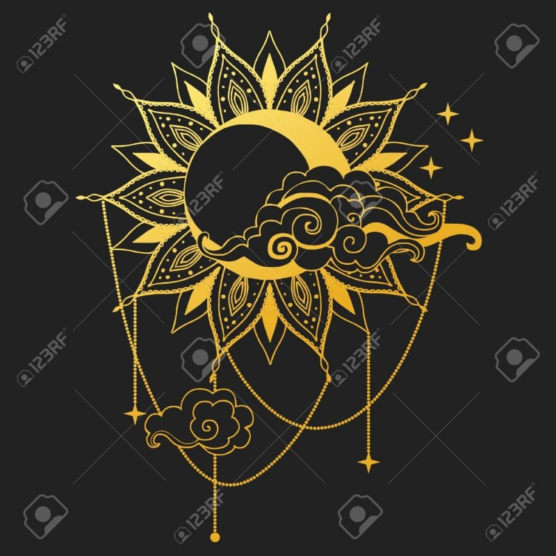 10 Latest Moon And Sun Background FULL HD 1080p For PC Desktop 2021 free download moon and sun on black background vector illustration royalty free 800x800