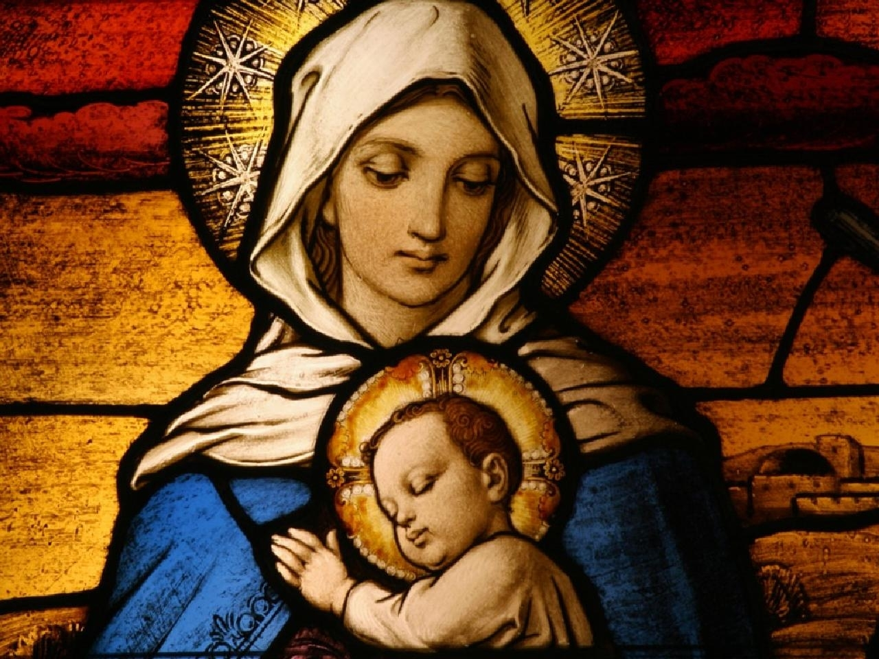 mother mary with baby jesus christ wallpaper picture download