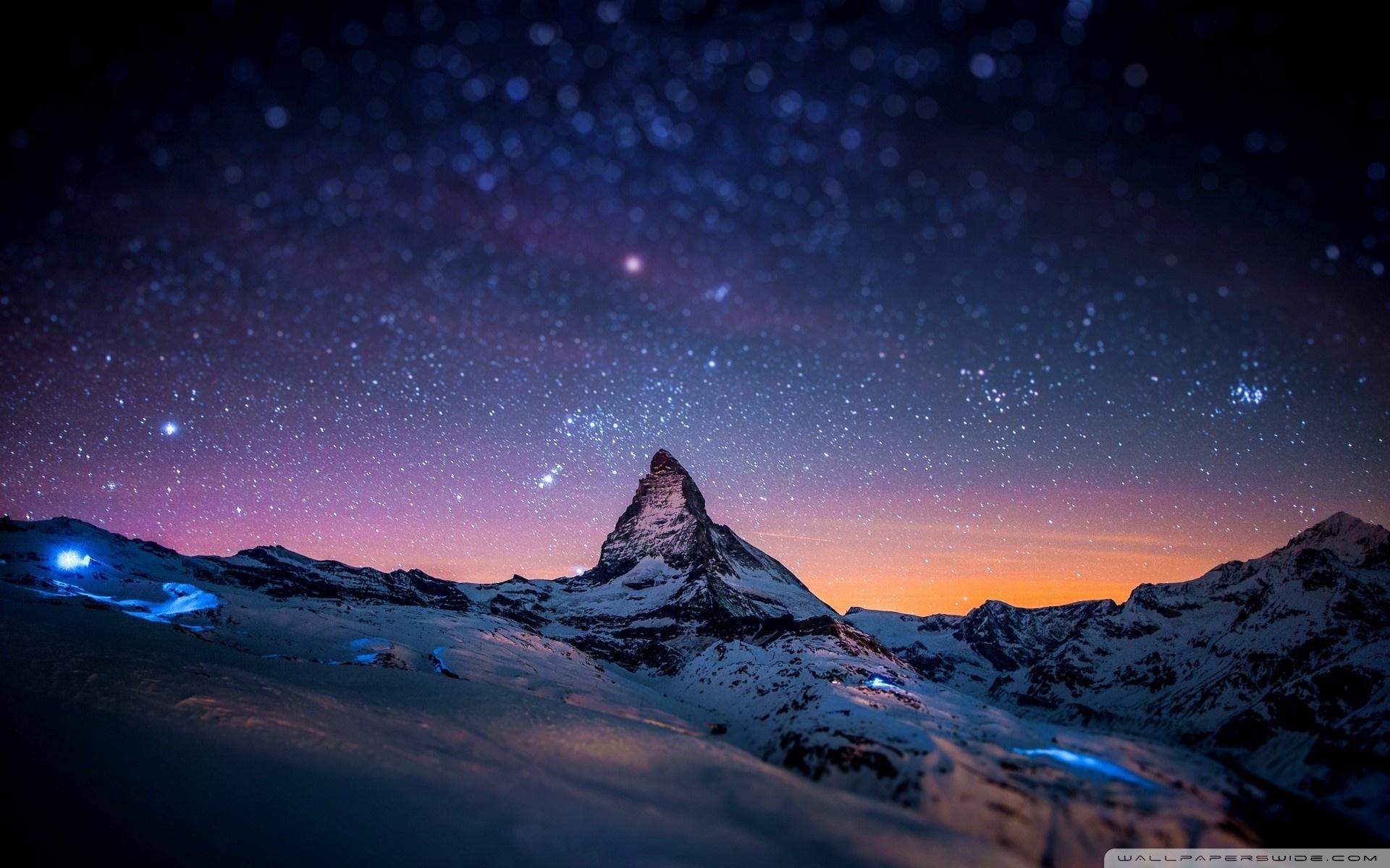mountain at night ❤ 4k hd desktop wallpaper for 4k ultra hd tv