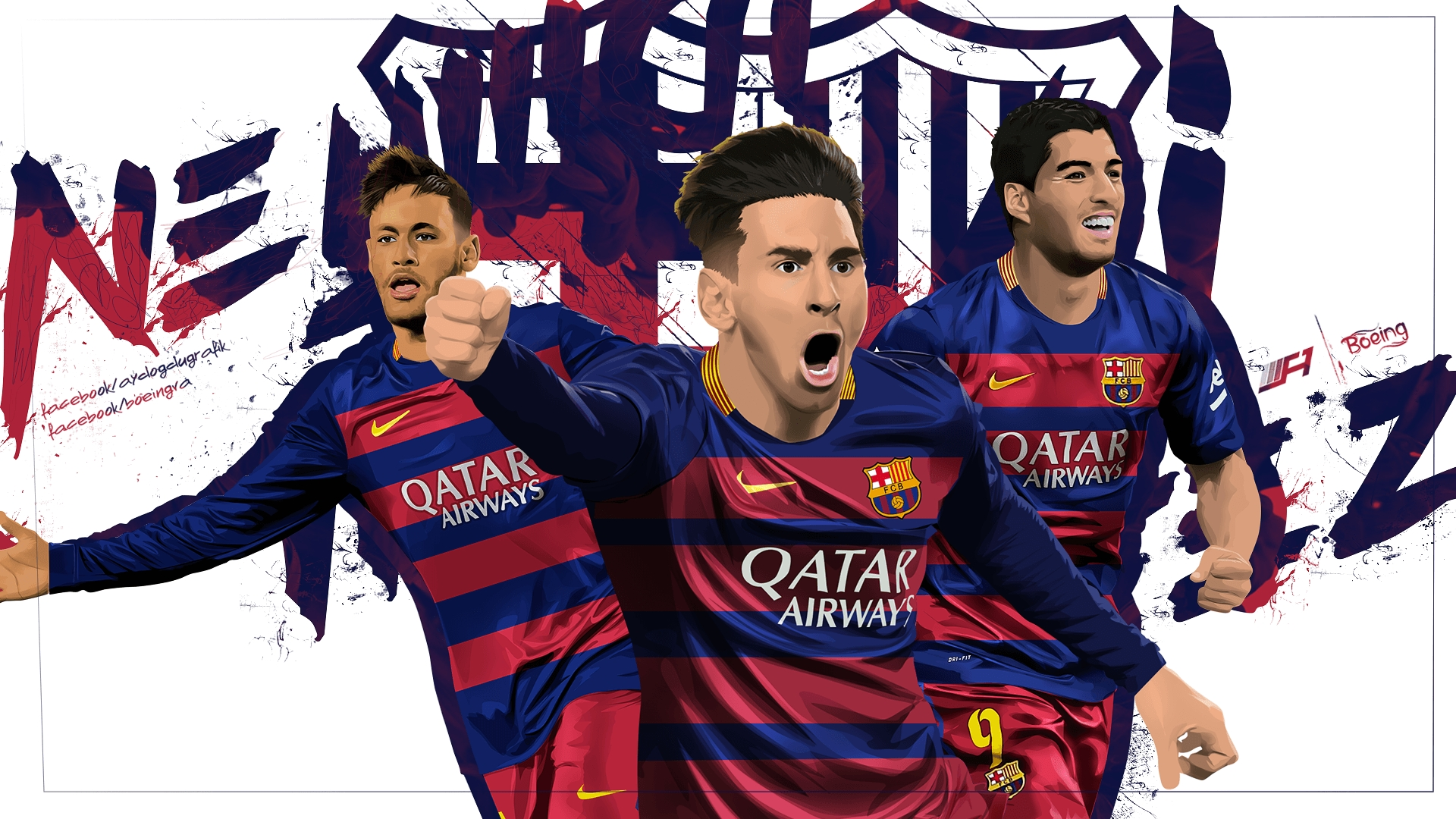 msn messi neymar suarez wallpapers - wallpaper cave