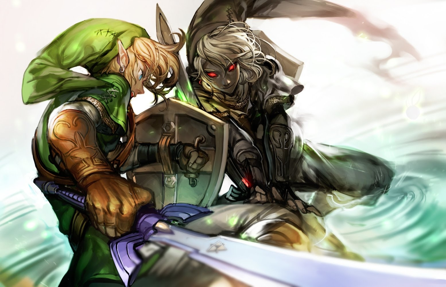 mugen) link vs dark link - youtube