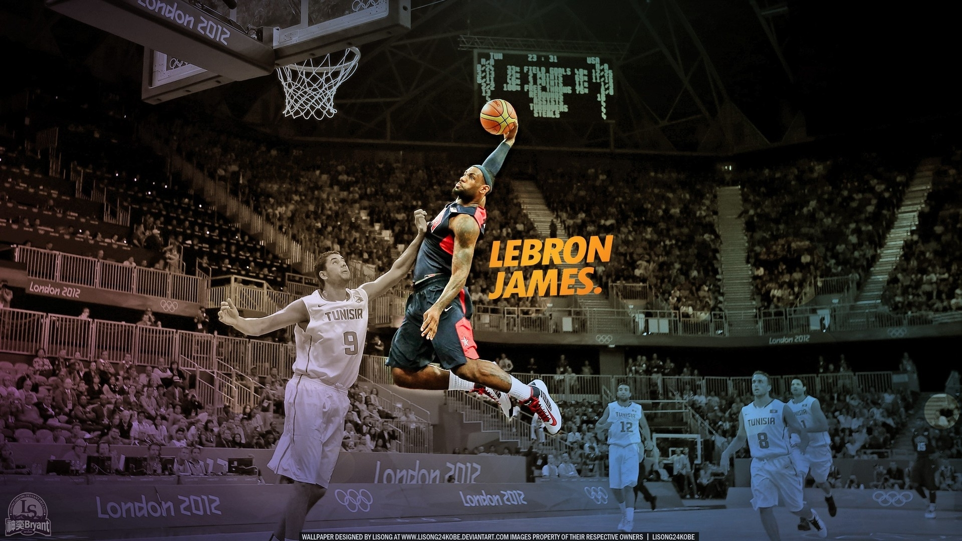 nba lebron james dunk joueur de basket papier peint | allwallpaper