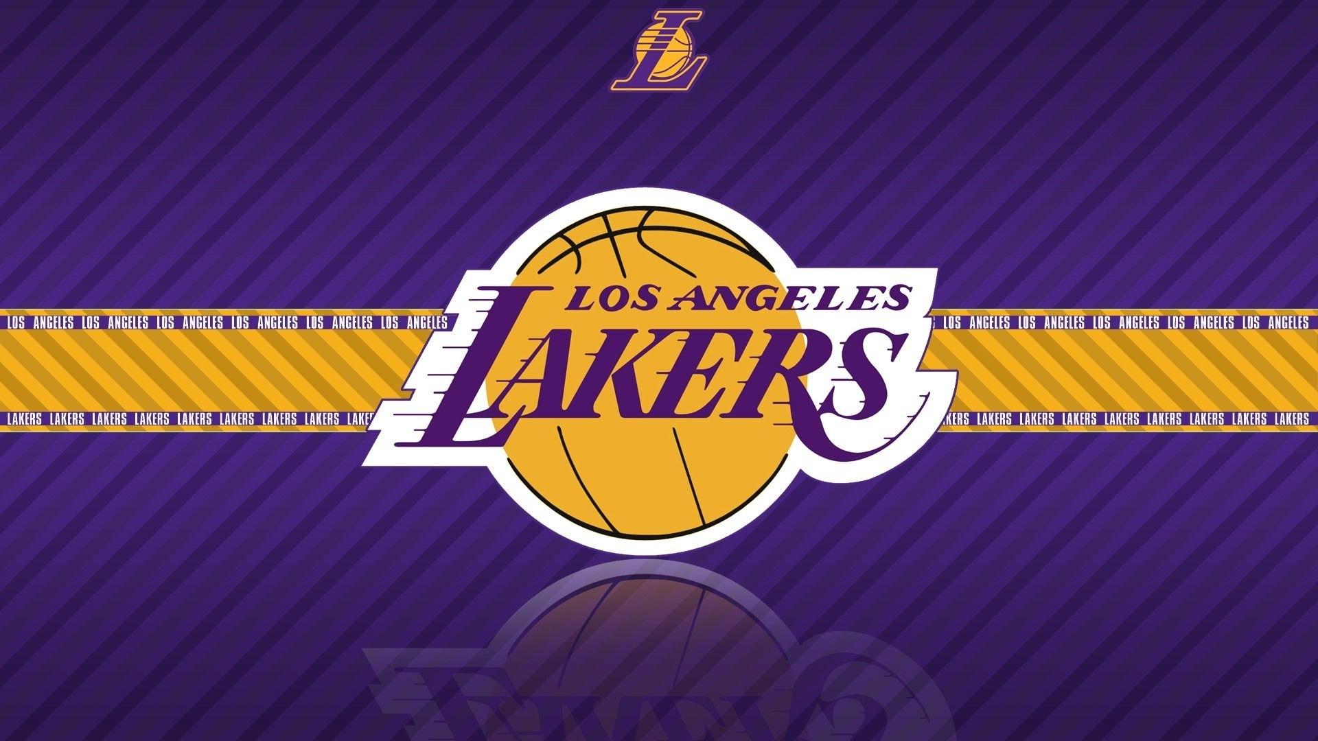 nba los angeles lakers team logo hd purple wallpaper widescreen