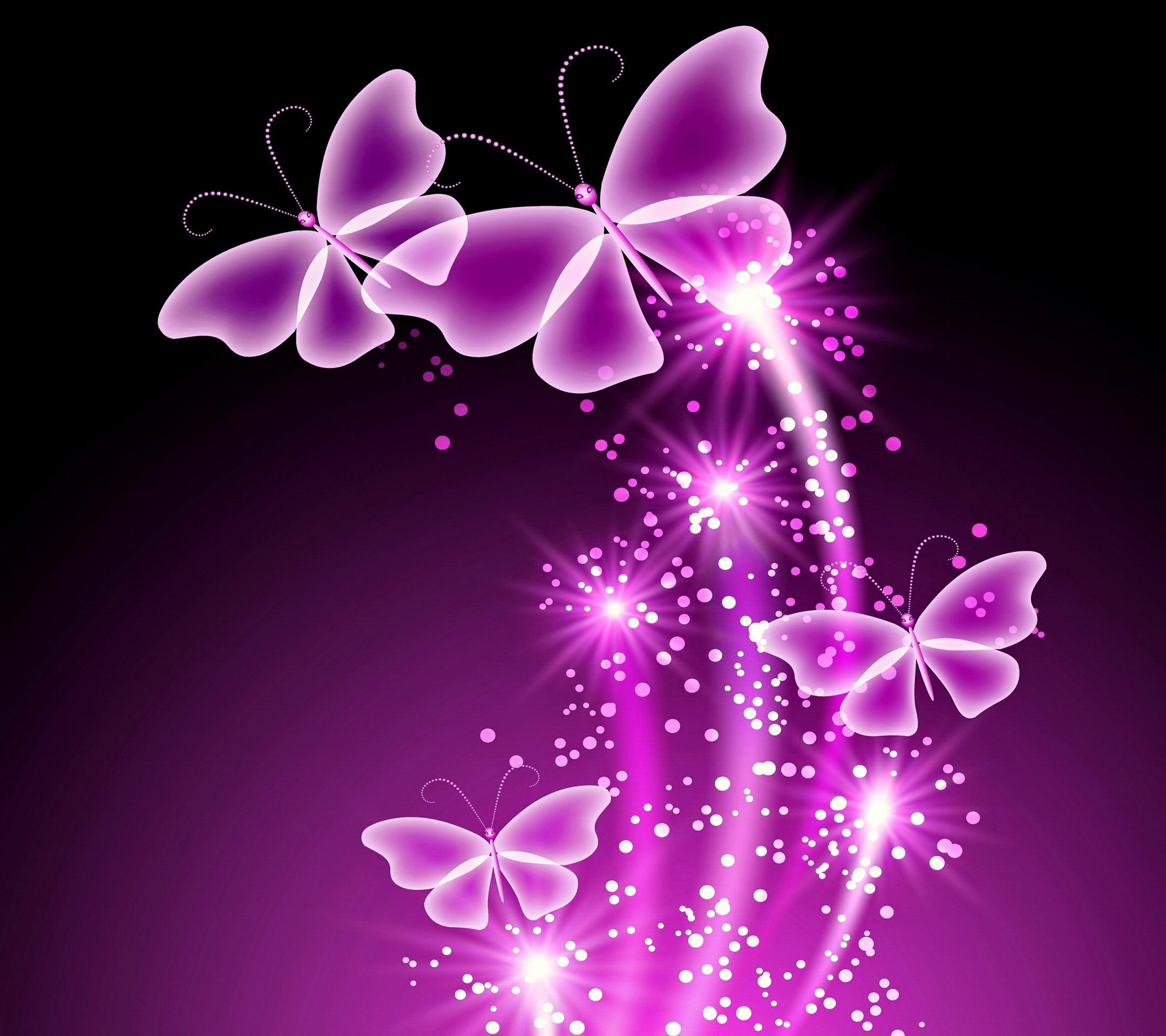 neon butterflies desktop background wallpaper free | butterfly