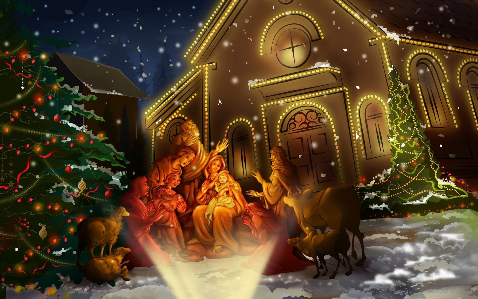 new 3d animated christmas wallpaper free download collection - anime