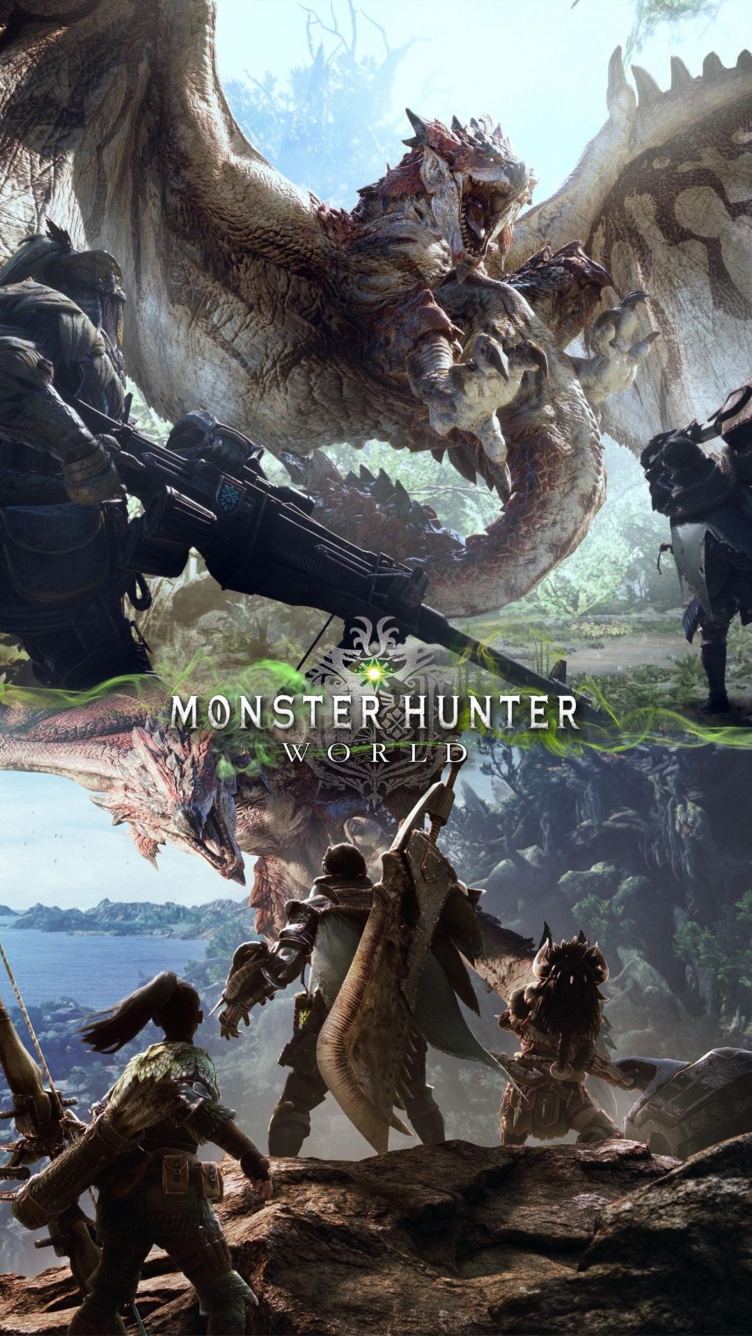 new phone wallpaper – monster hunter world – gaming art