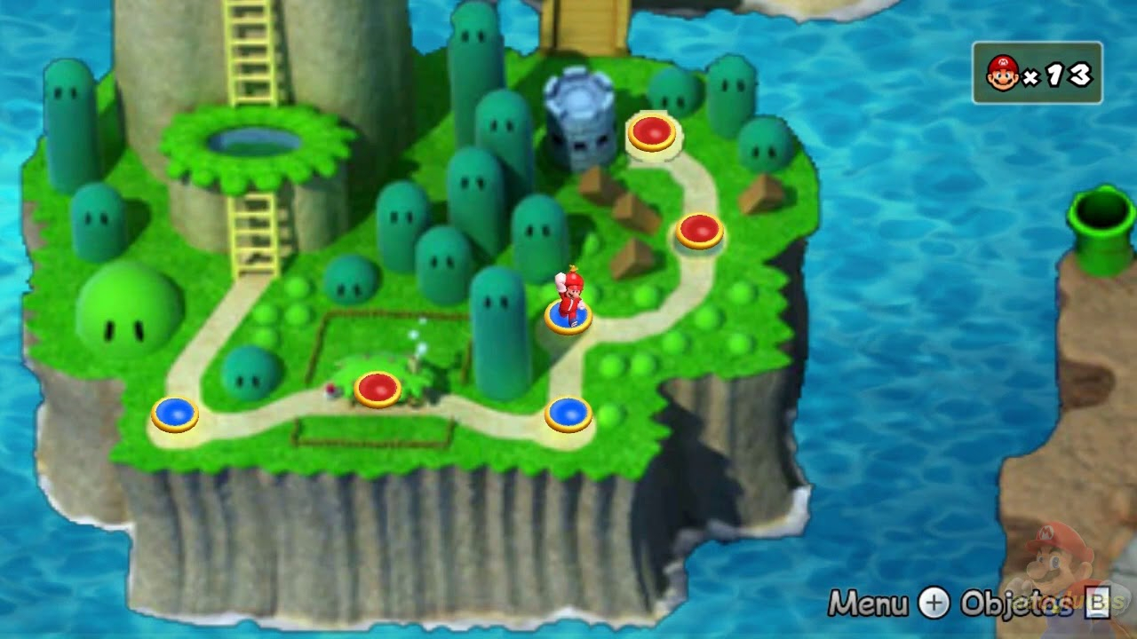 new super mario all stars hd: super mario world remake 100% mundo 1