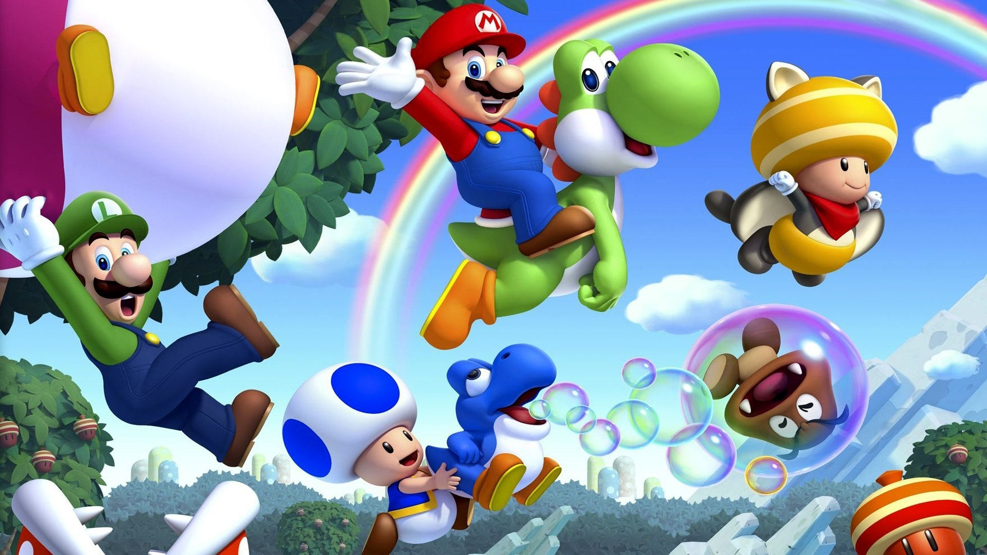 new super mario bros. u full hd fond d'écran and arrière-plan