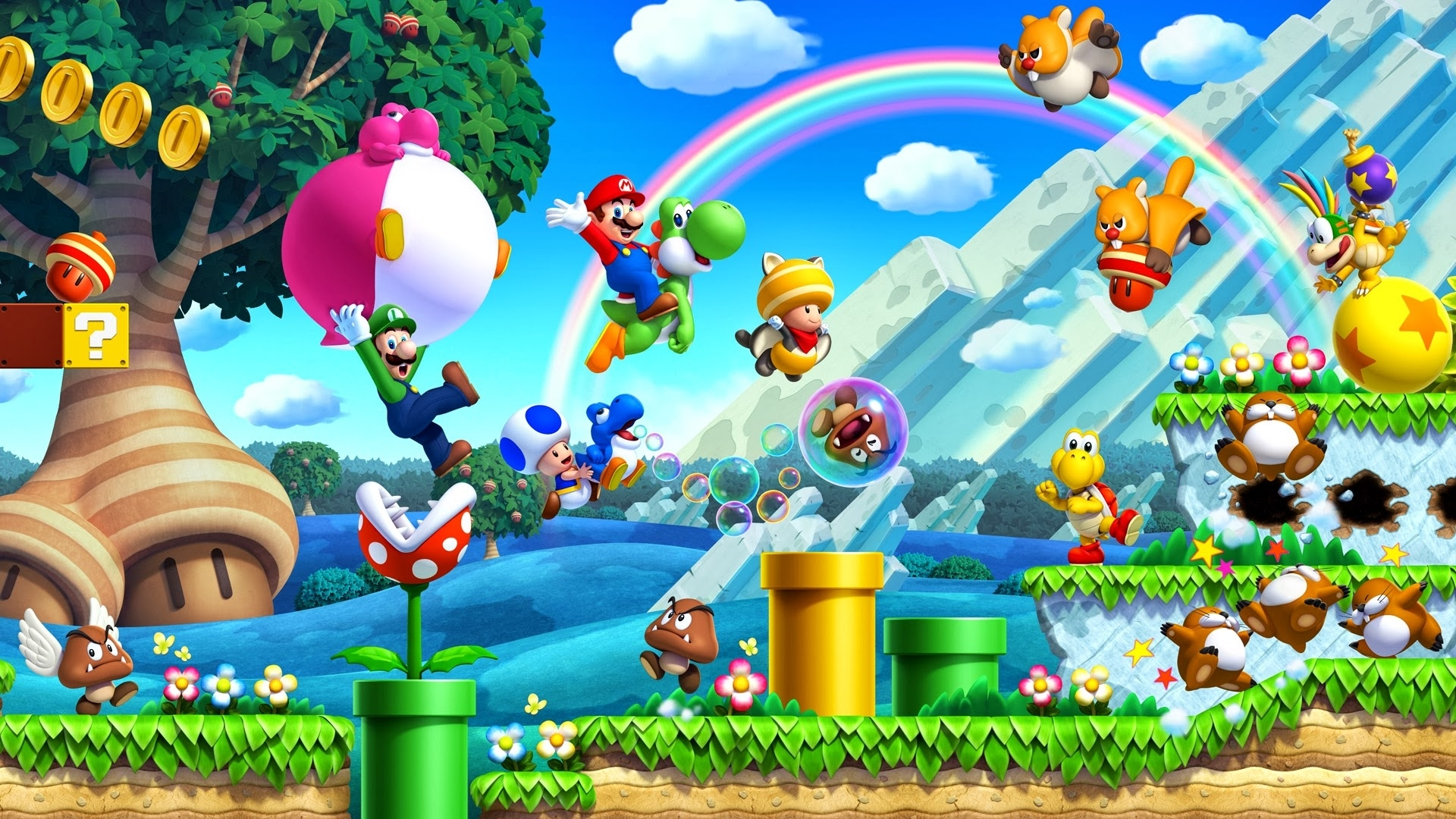 new super mario bros. u wallpaper full hd fond d'écran and arrière