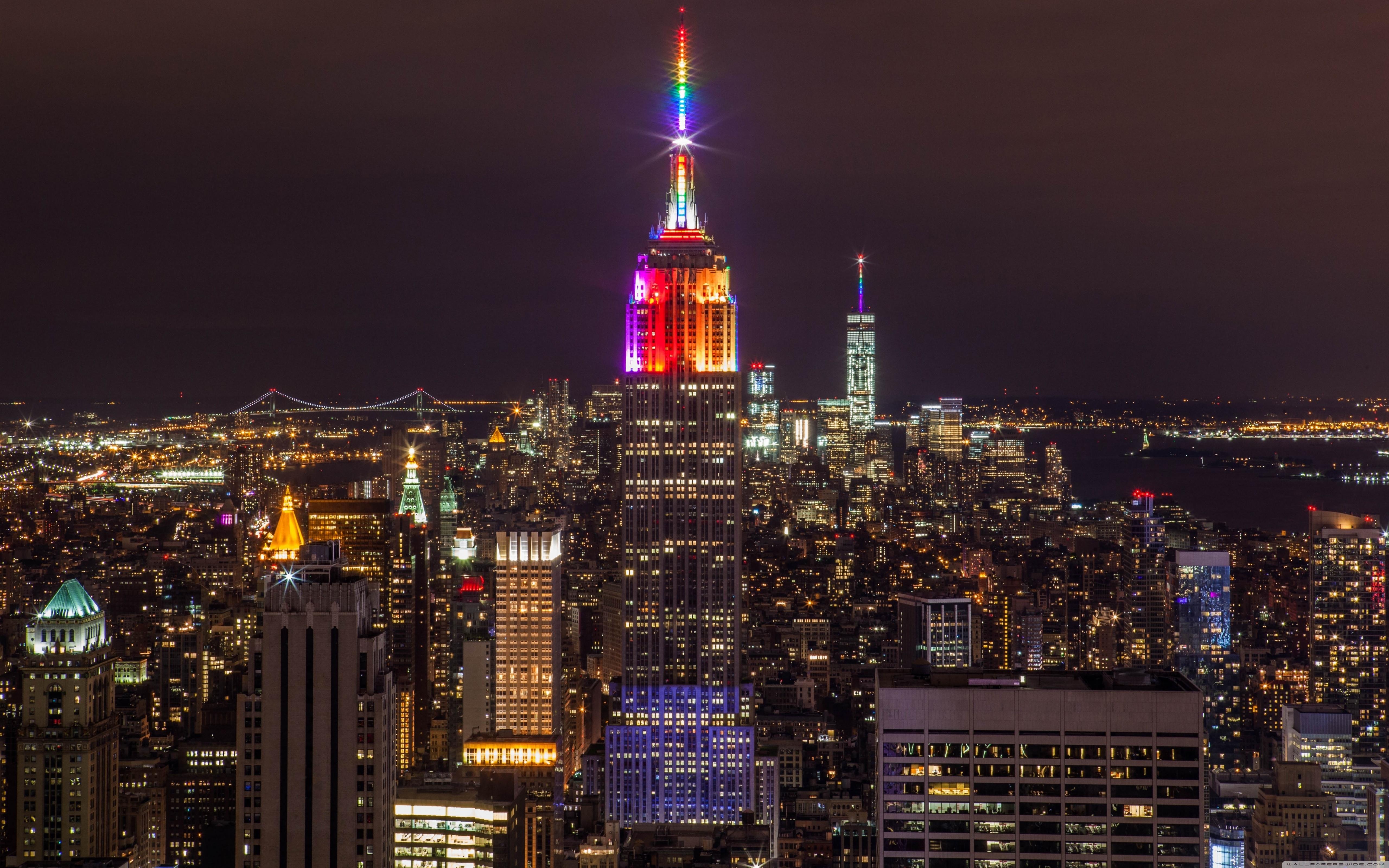 new york city night lights ❤ 4k hd desktop wallpaper for 4k ultra