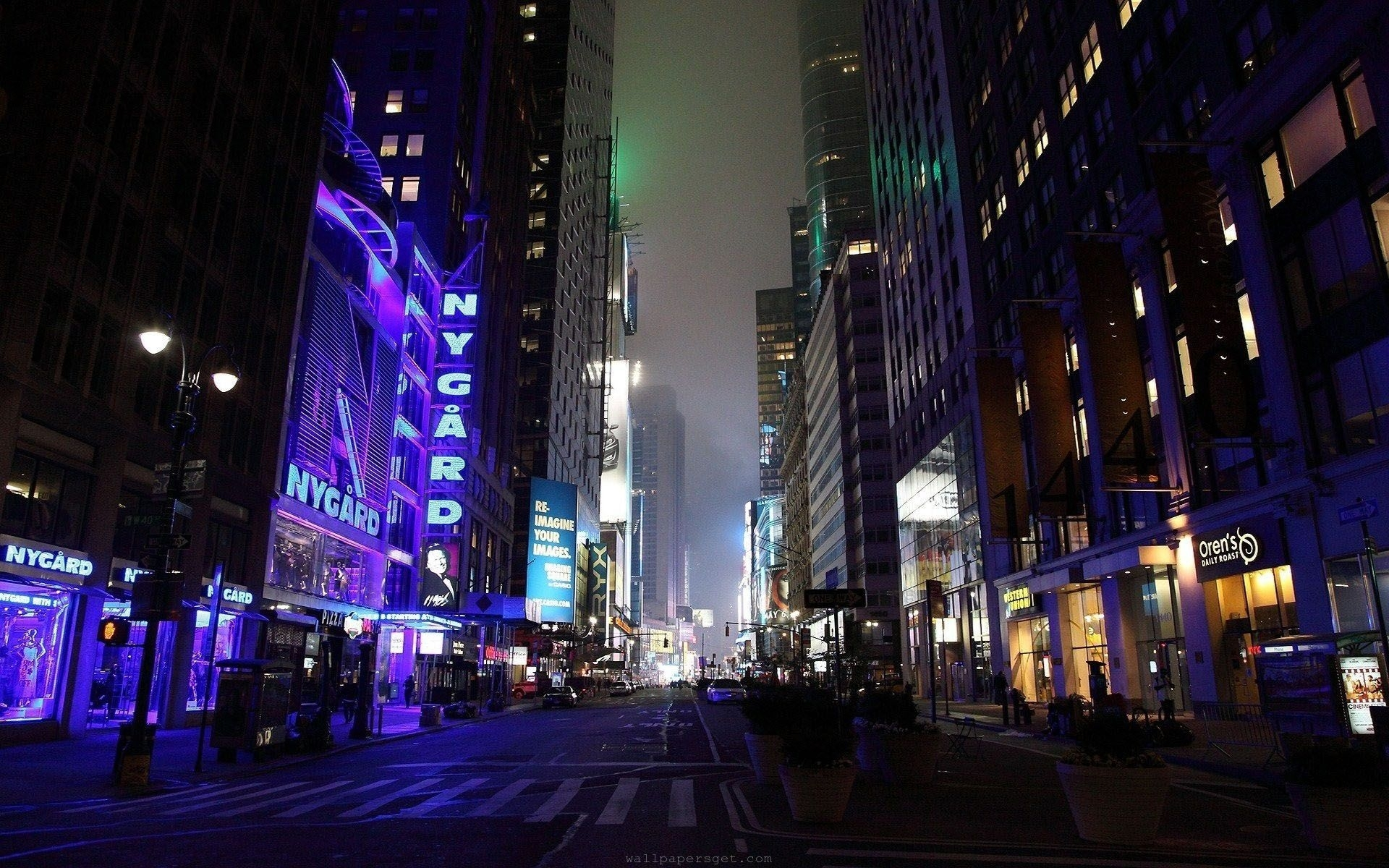 new york city streets at night - wallpaper. | all wallpapers
