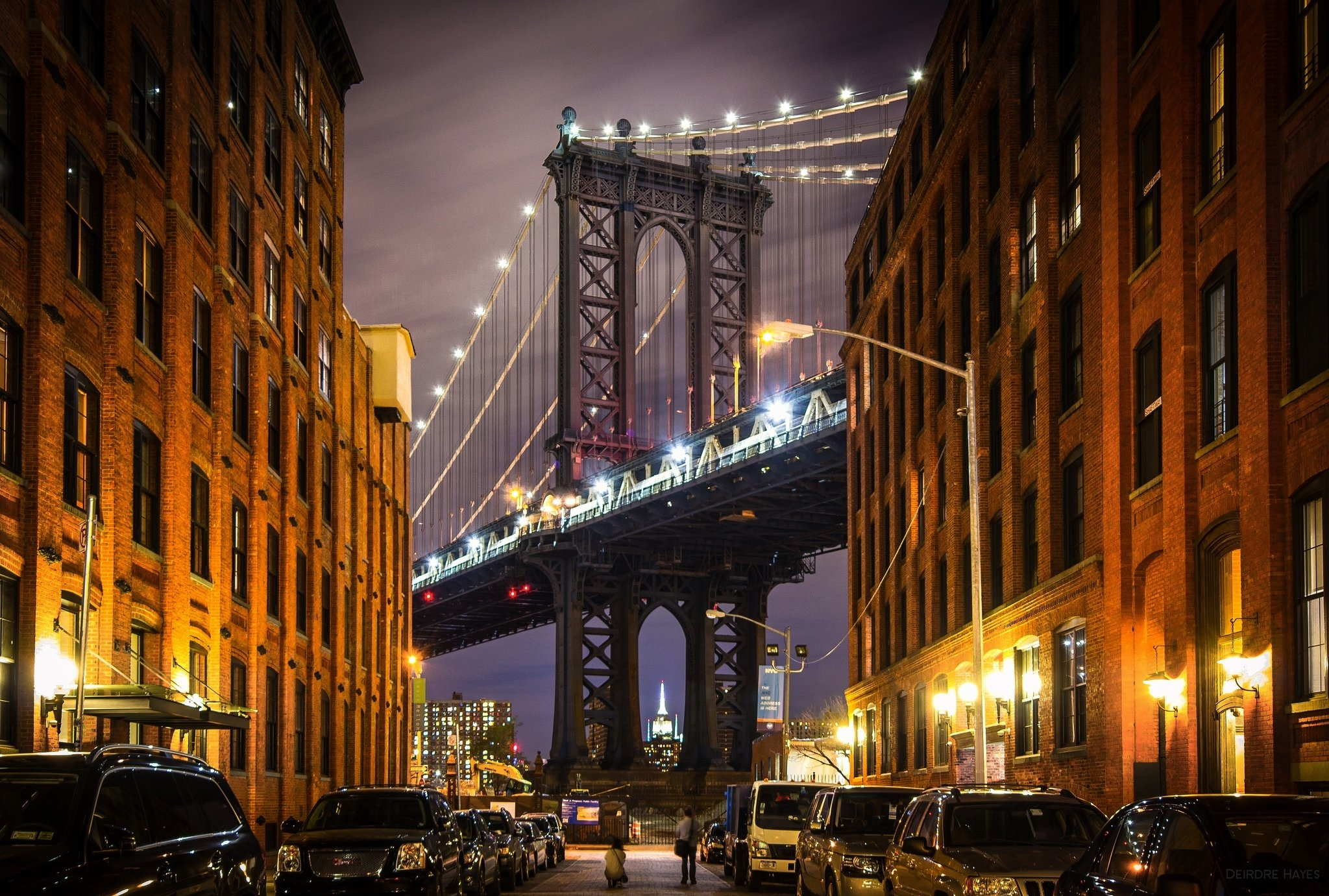 new york usa manhattan manhattan bridge bridge buildings streets