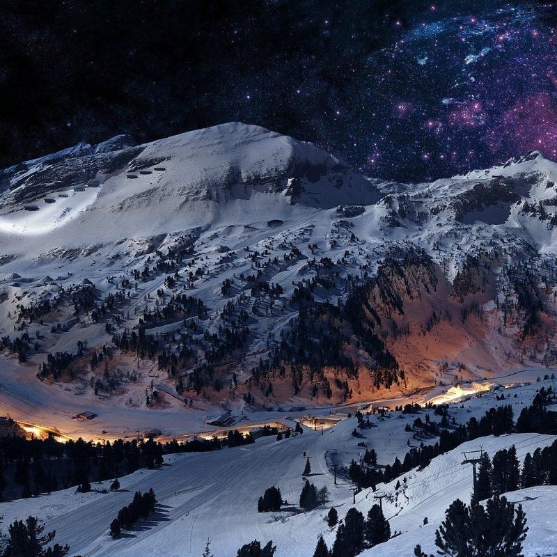 10 Top Snow At Night Wallpaper FULL HD 1920x1080 For PC Desktop 2018 Free