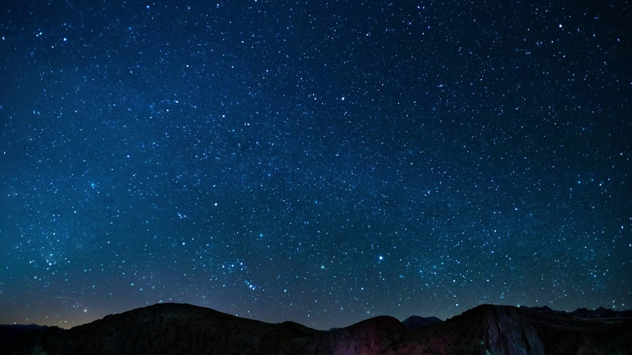 night sky stars falling animated video background - youtube