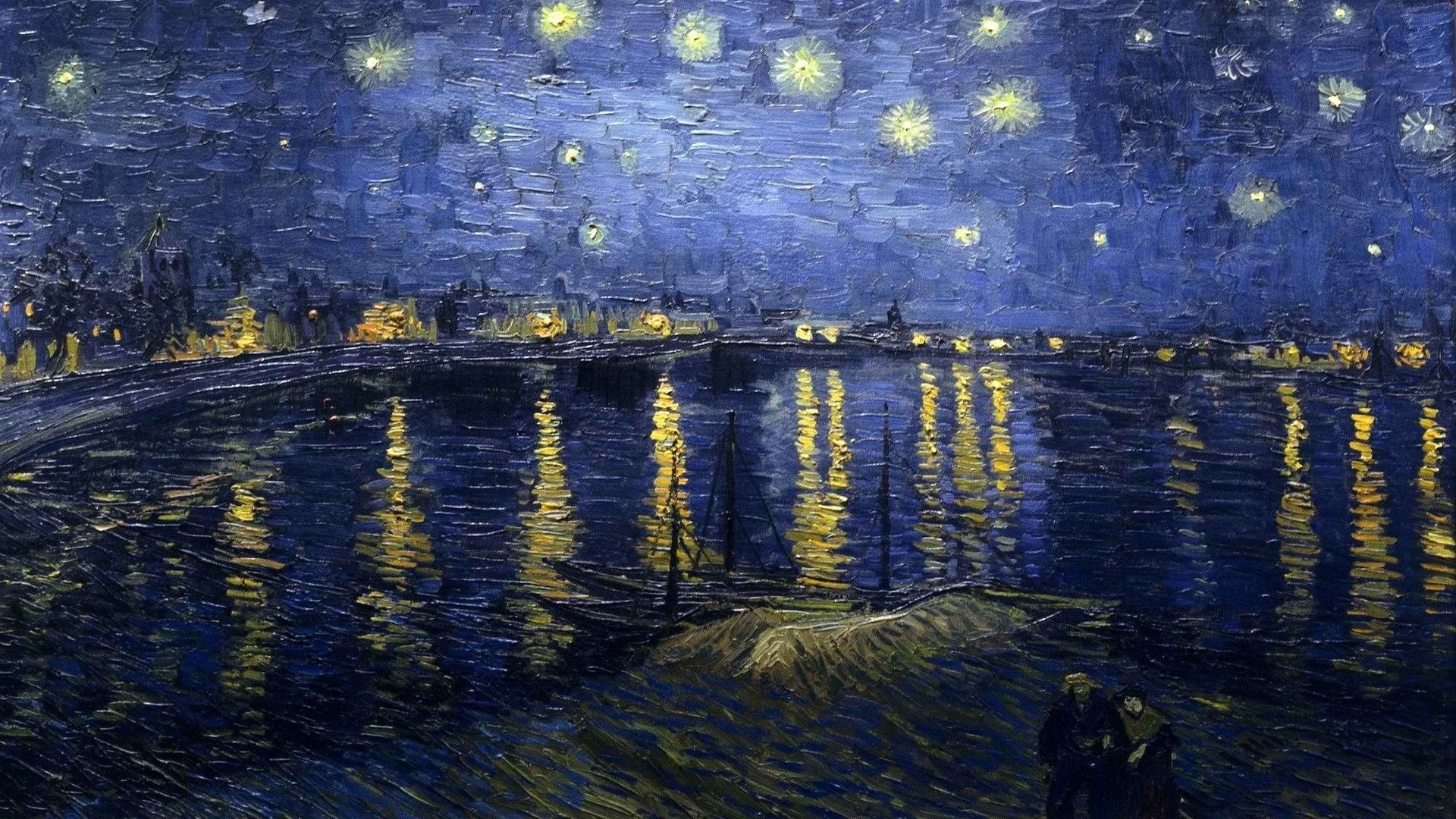 night world vincent van gogh starry night over the rhone 1920x1080