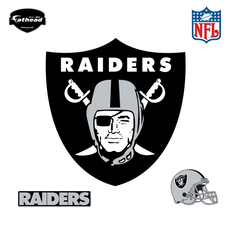 10 Best Oakland Raiders Images Logos FULL HD 1920×1080 For PC Desktop 2018 free download oakland raiders logo wall decal shop fathead for oakland raiders 4 800x800