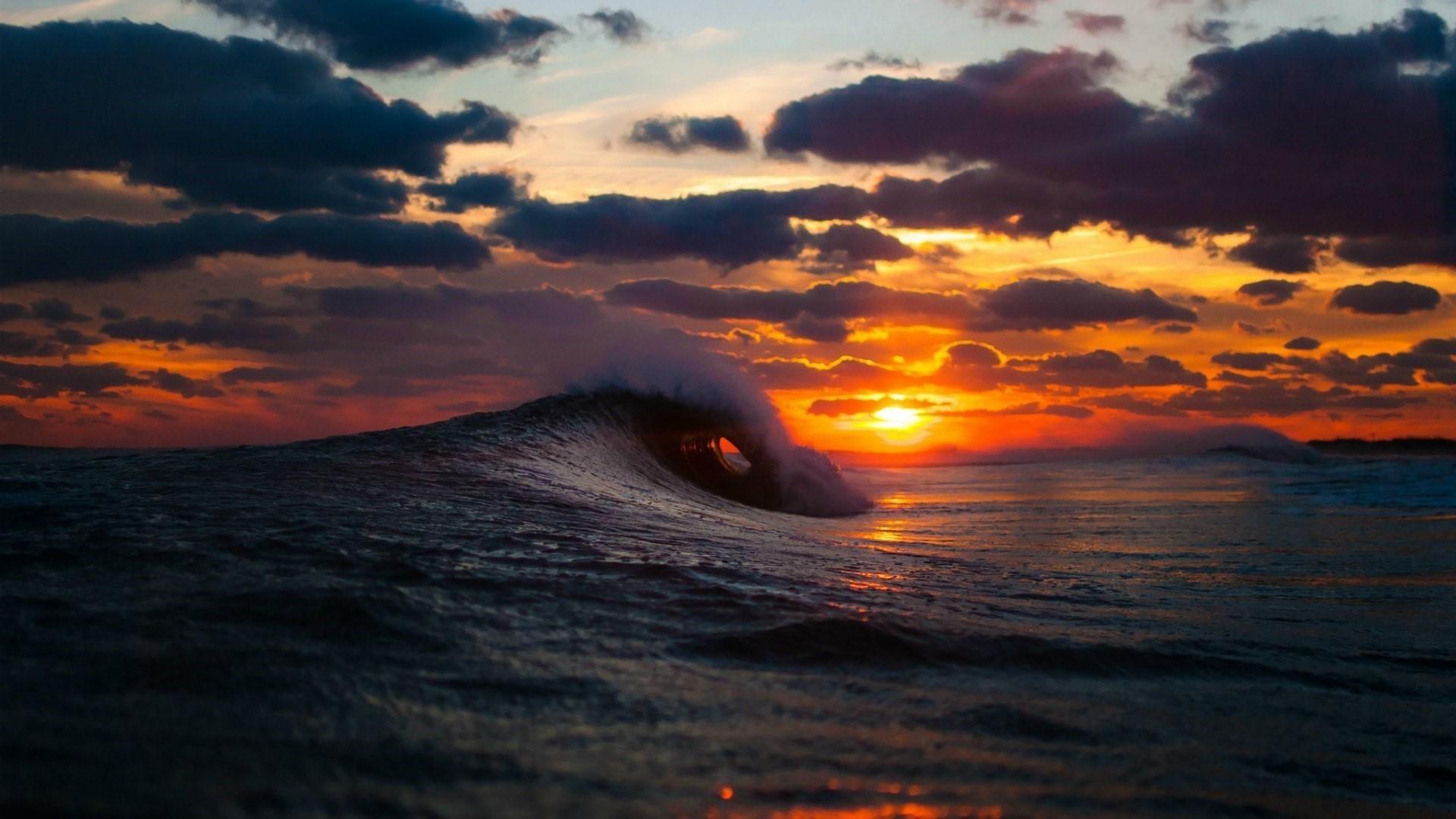 ocean wave in the sunset wallpaper | wallpaper studio 10 | tens of