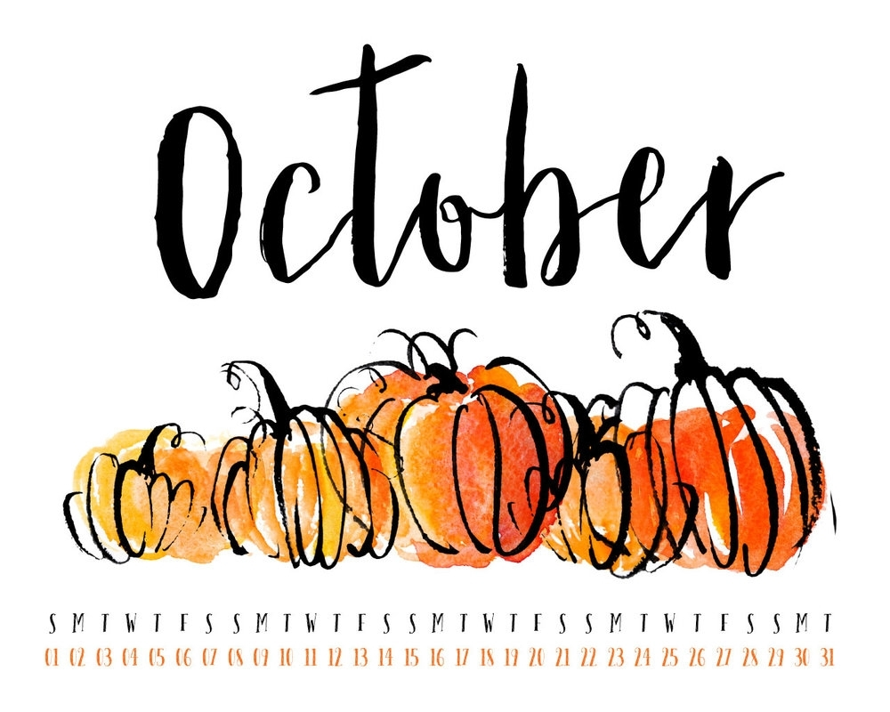 october 2017 desktop calendar wallpaper — uppercase designs