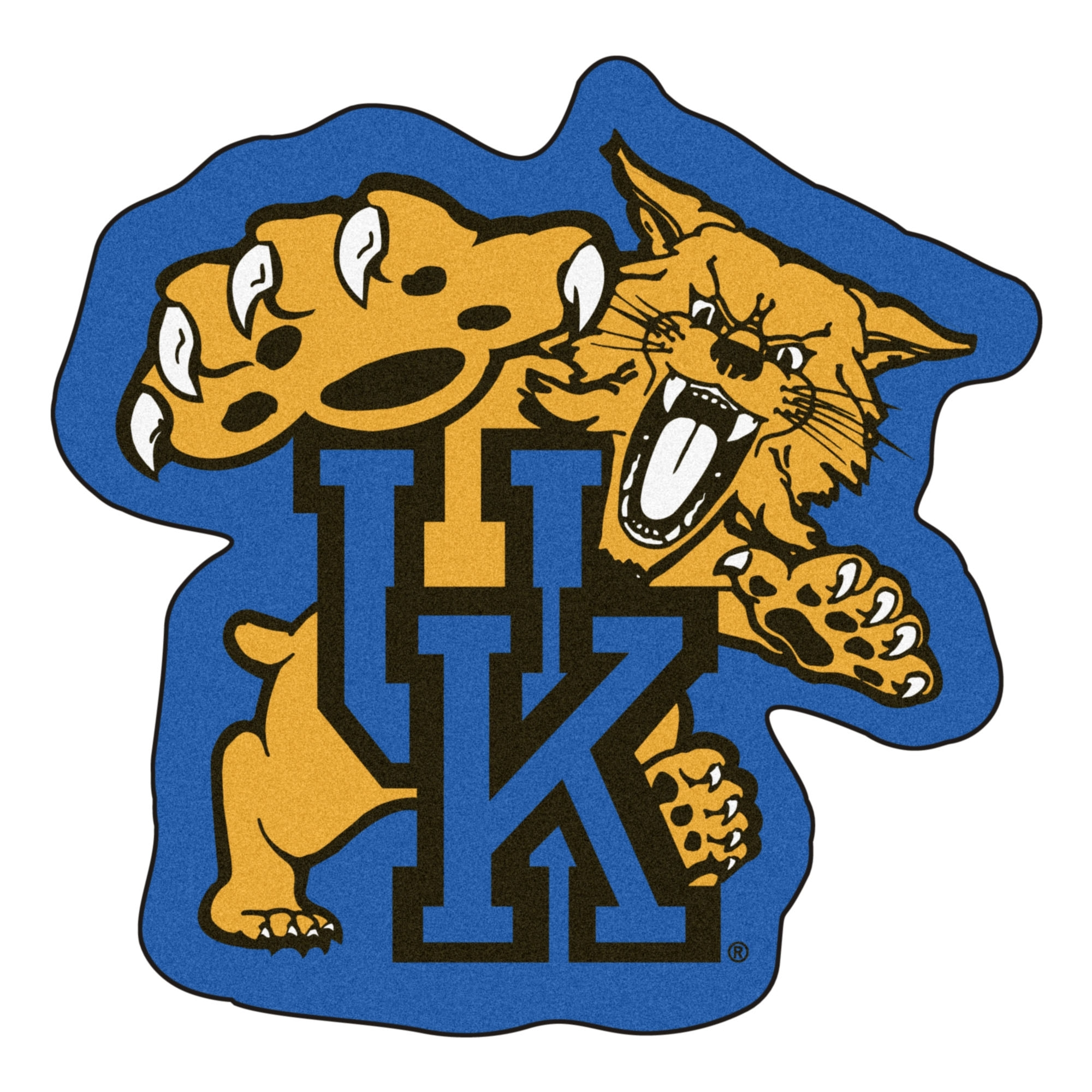 of kentucky wildcats mascot area rug - nylon